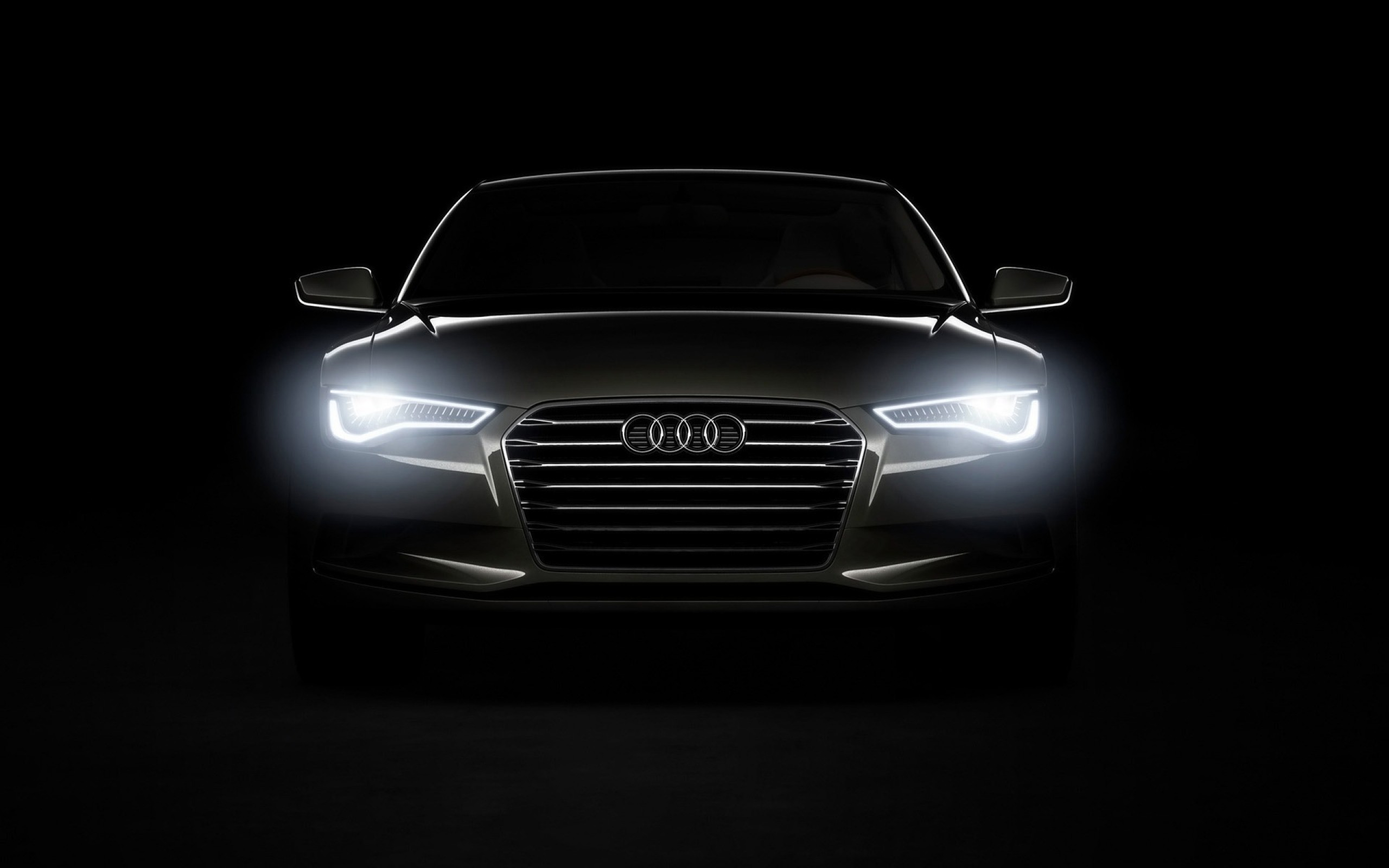 Audi Headlights in the Dark