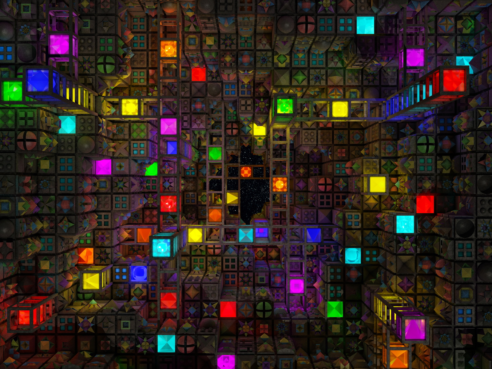 Colorful Cubic Abstract Wallpapers