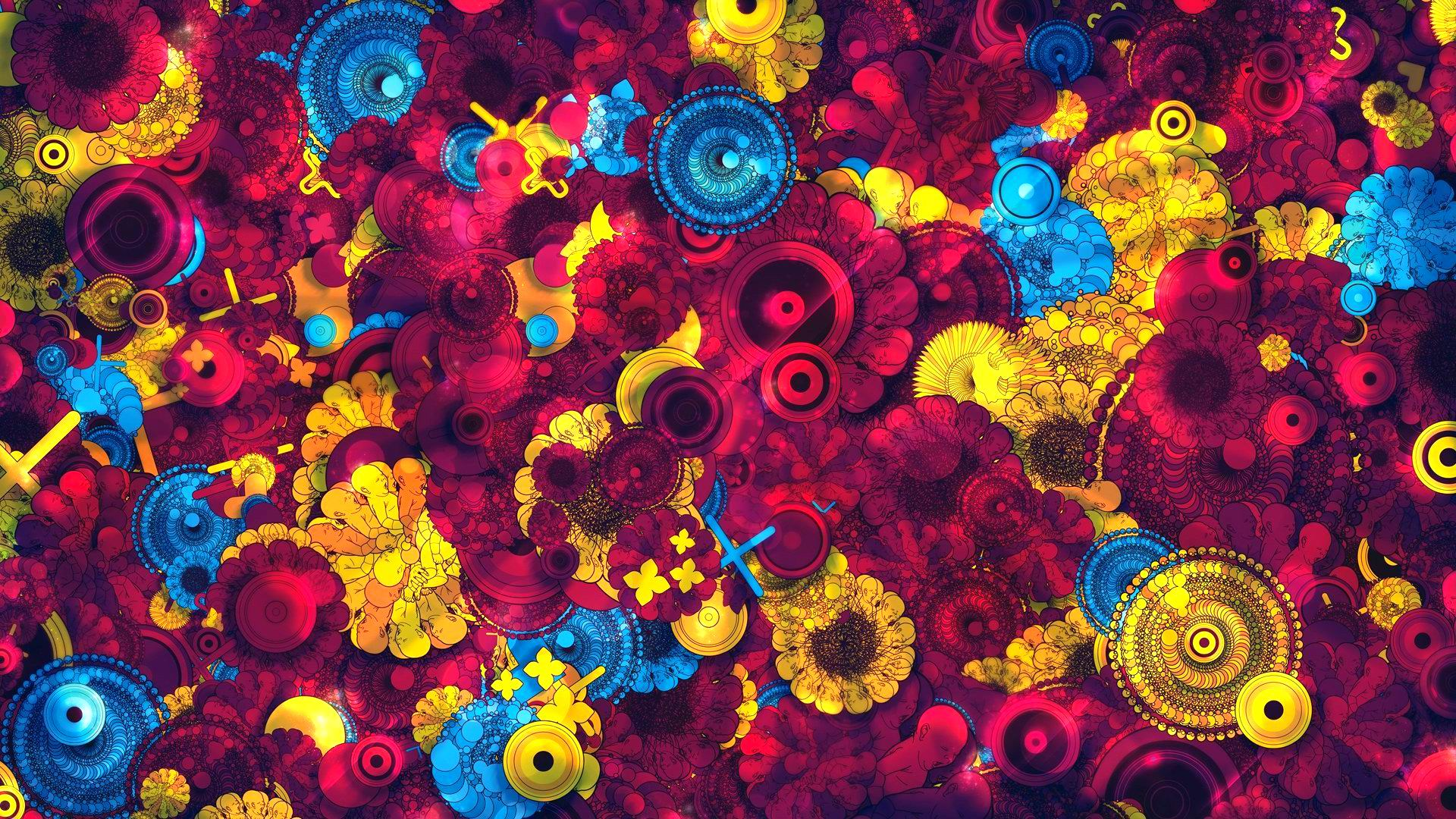 Flower Abundance Abstract Wallpapers