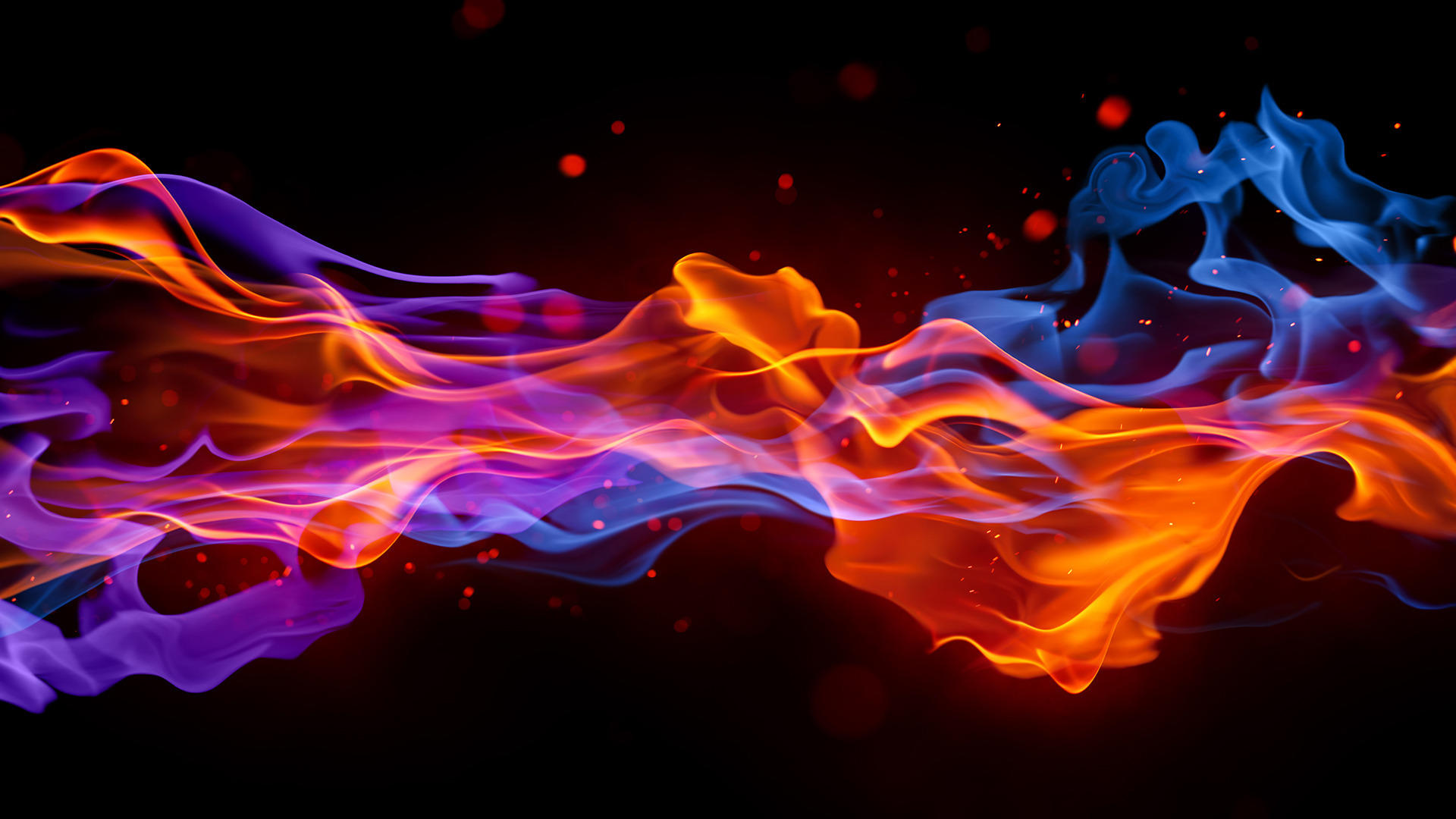 Fire and Smoke Abstract Wallpapers
