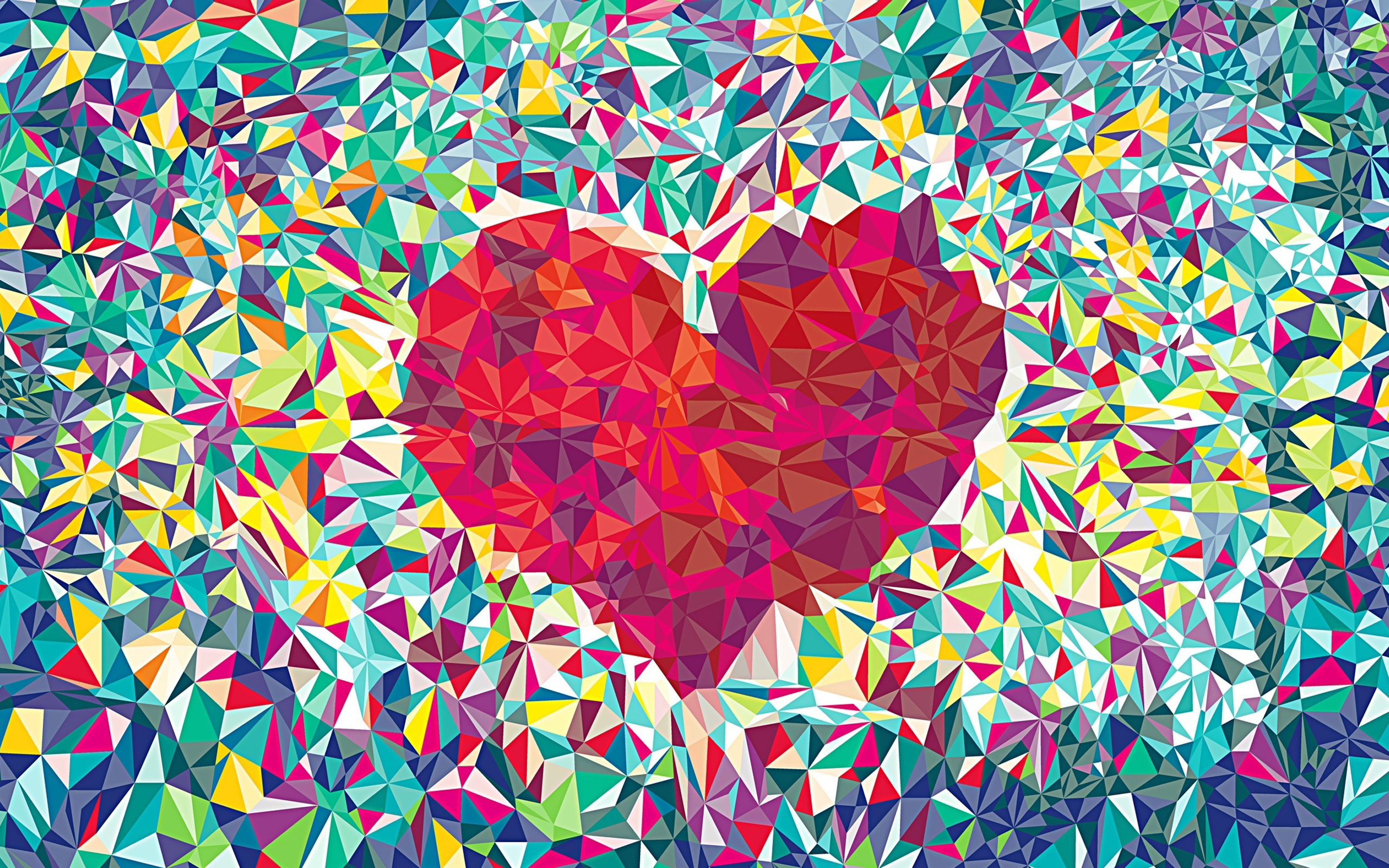 Geometric Heart Abstract Wallpapers 248.87 Kb
