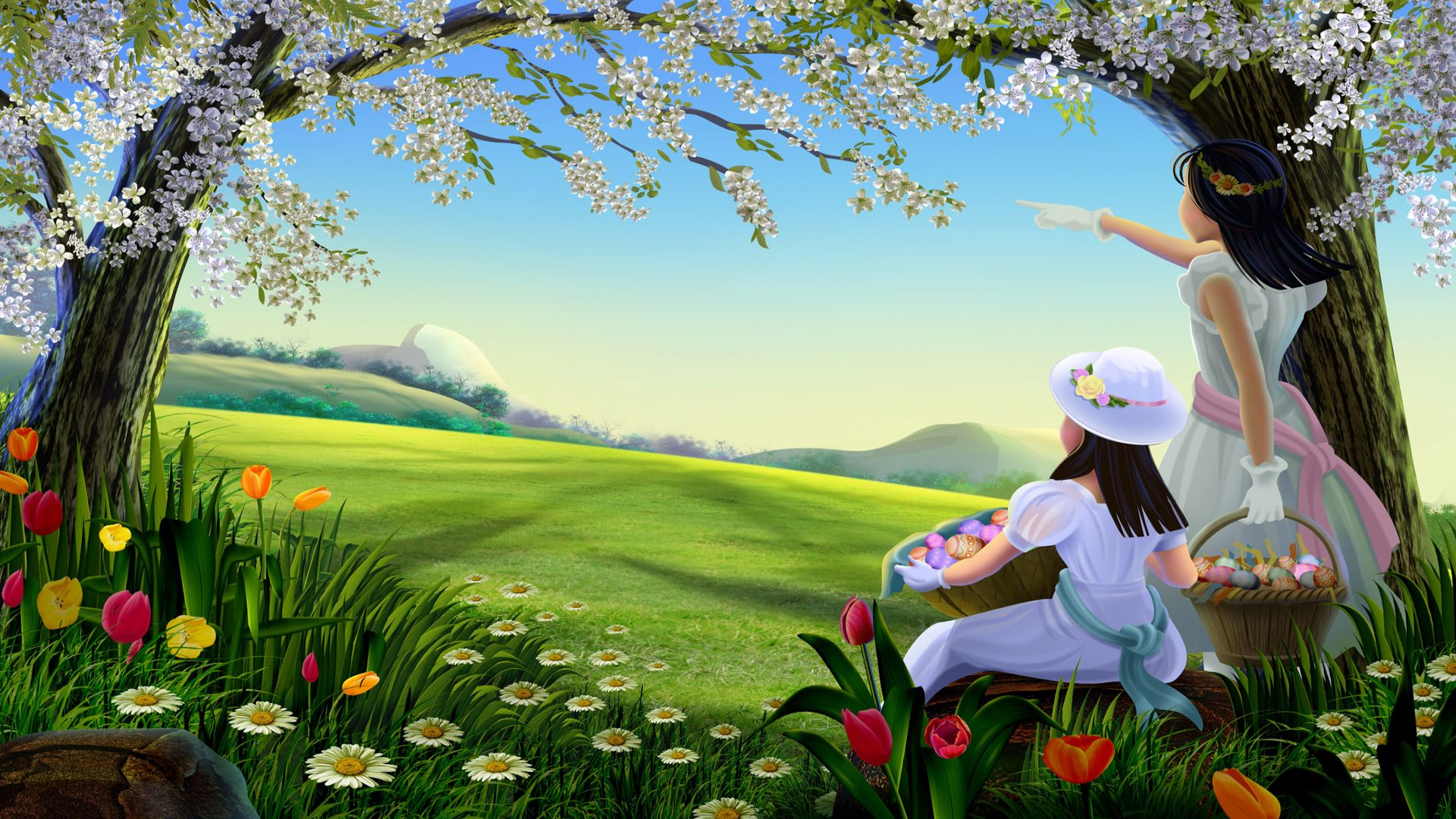 Picnic Free Wallpaper 83.26 Kb