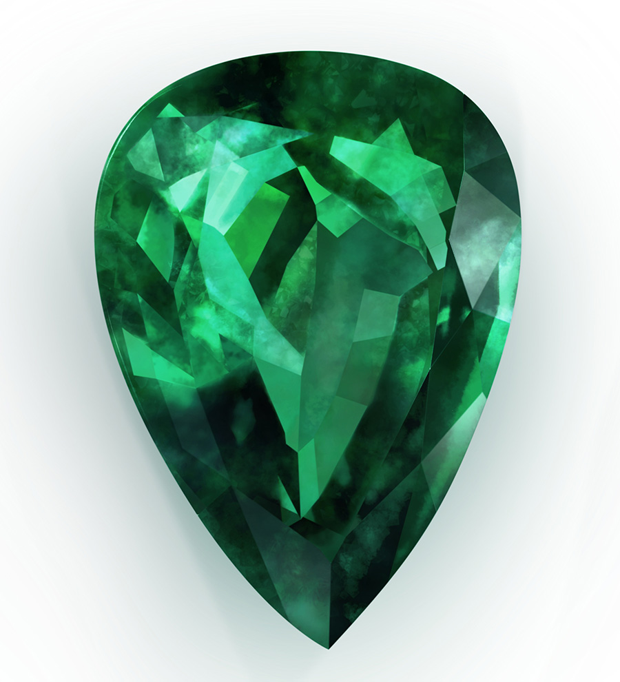 Emerald Drop Shape 423.54 Kb