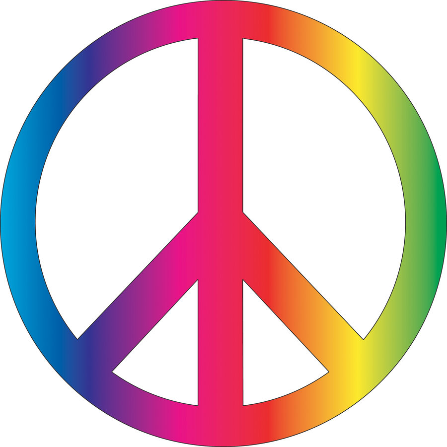 Peace Sign in Rainbow Colors 192.3 Kb