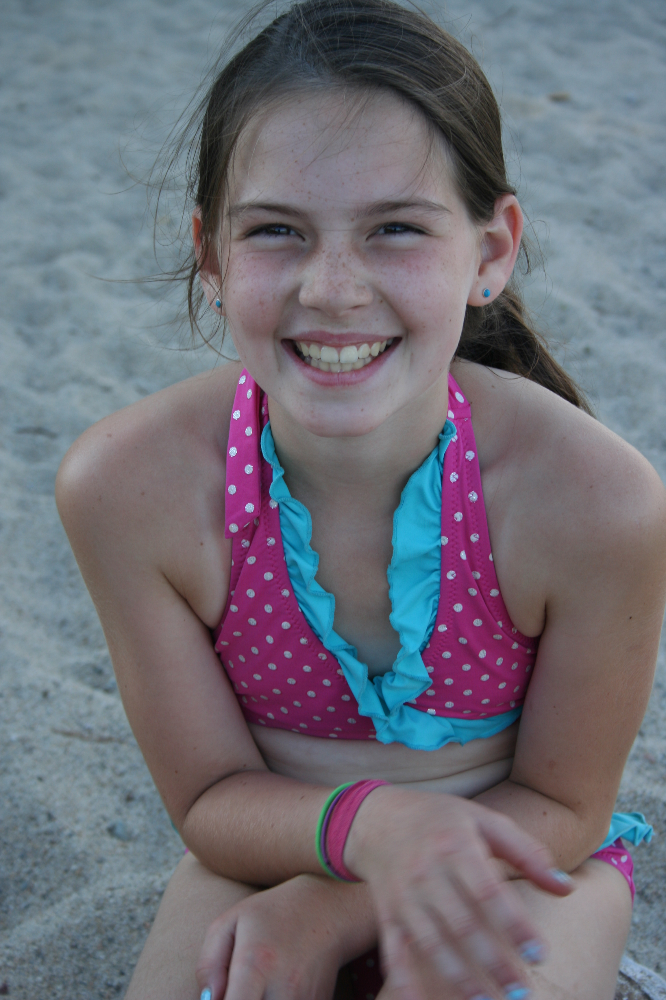 Happy Daughter on the Beach
