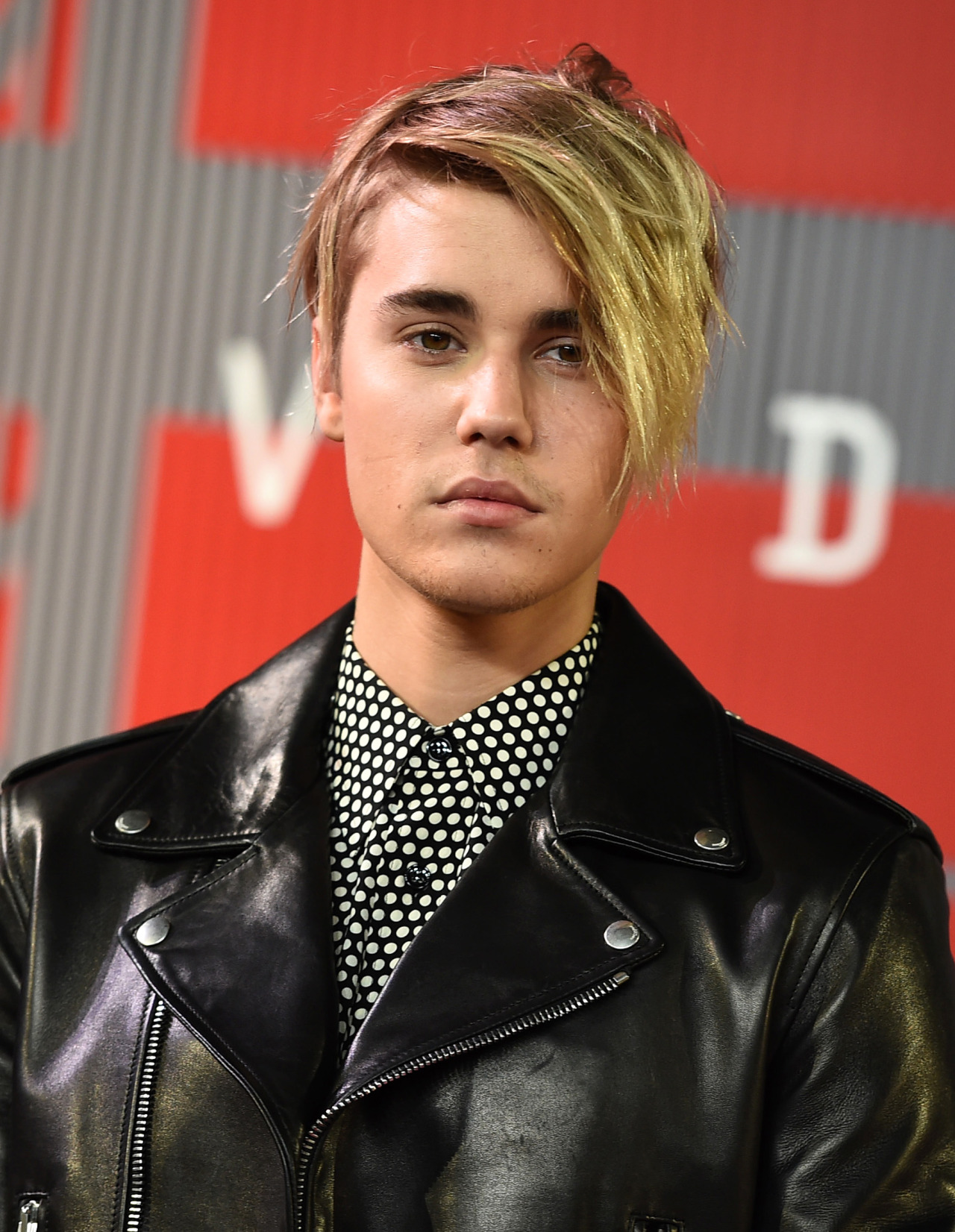 Justin Bieber in Leather Coat