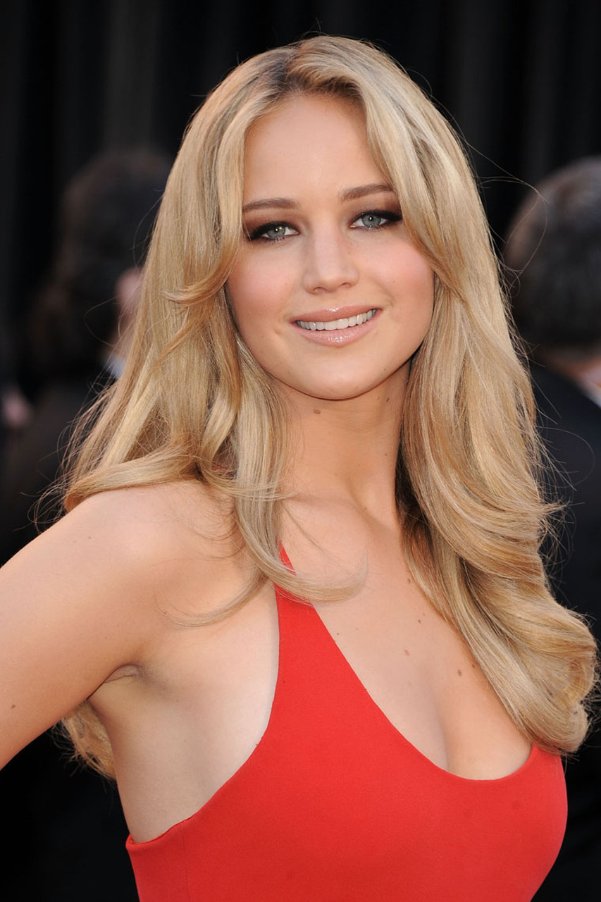 Jennifer Lawrence in a Red Dress