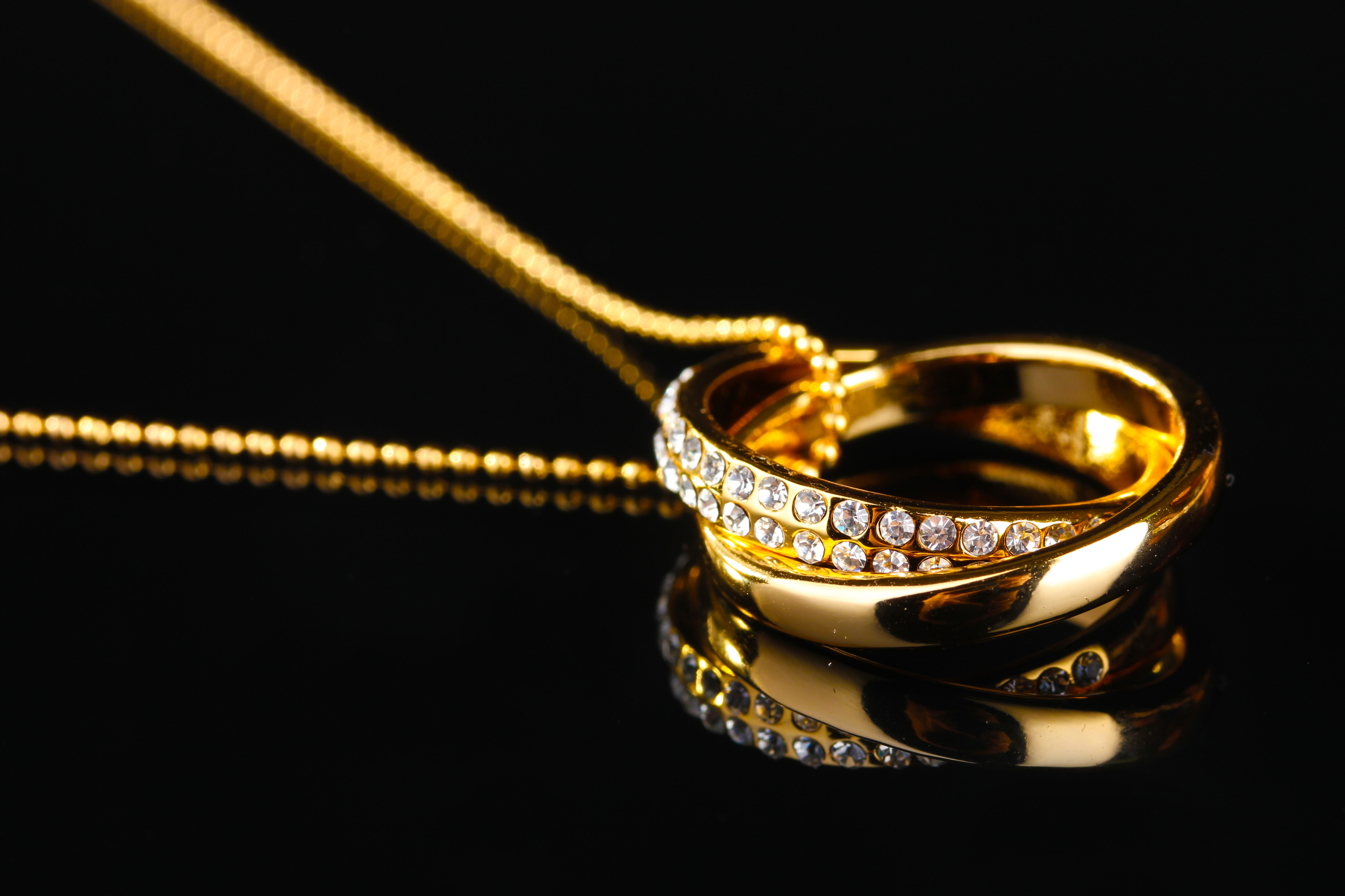 Gold Ring Jewelry on a Chain
