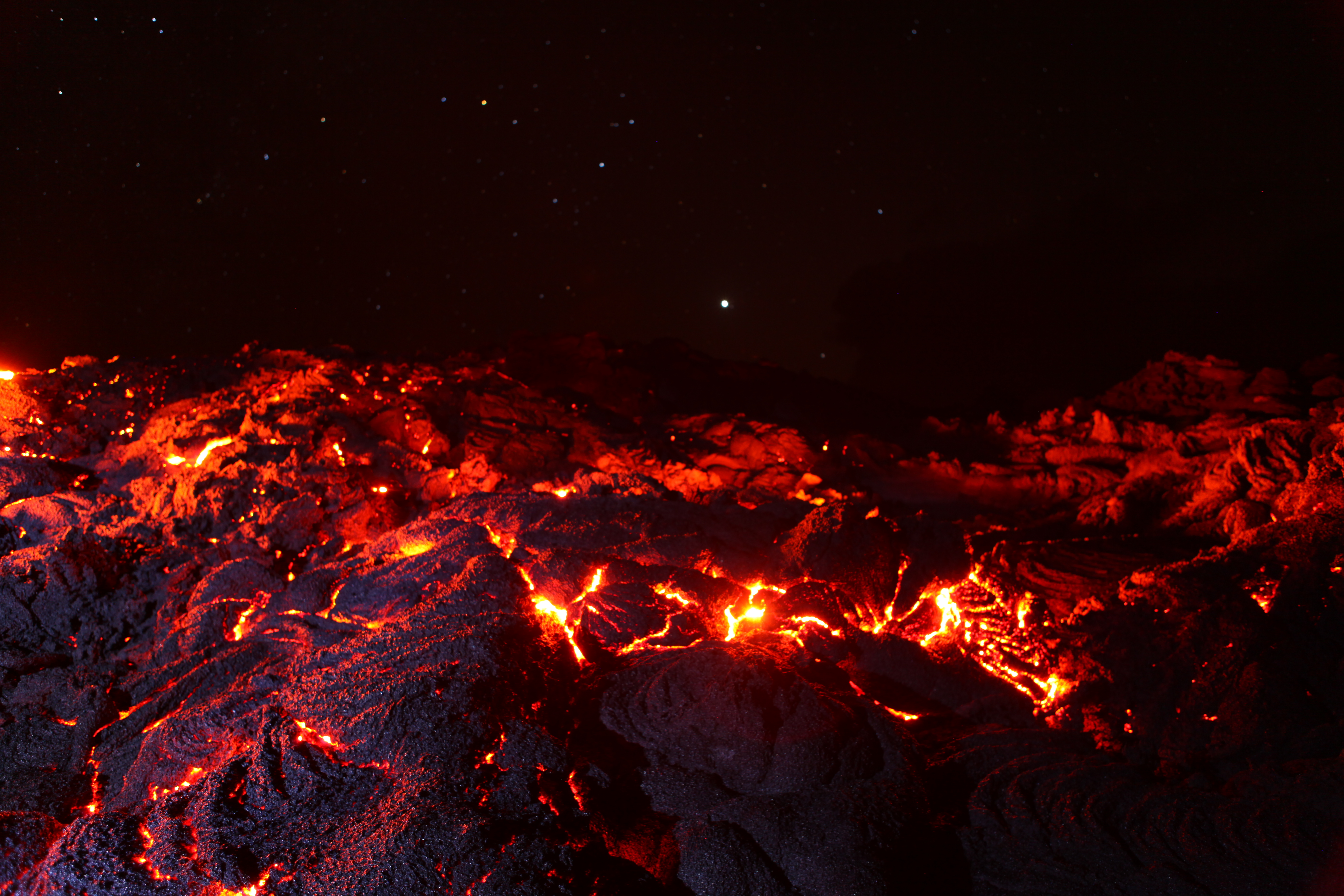 A Fire Stream of Lava