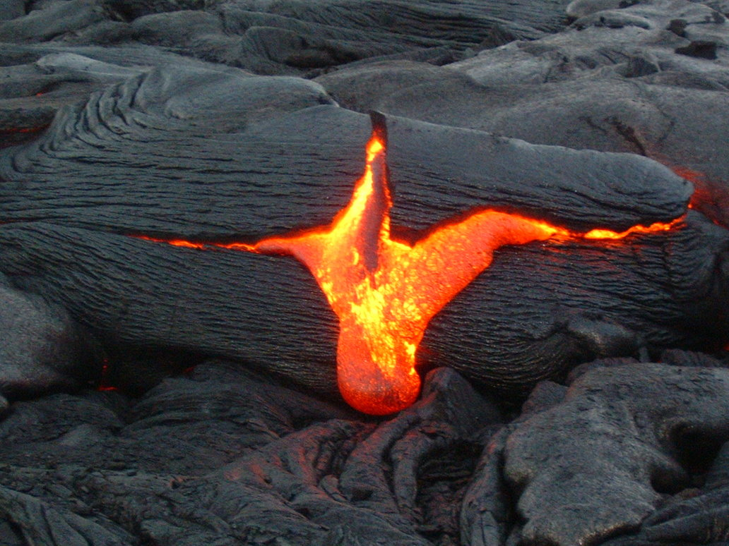 Hot Emission of Lava