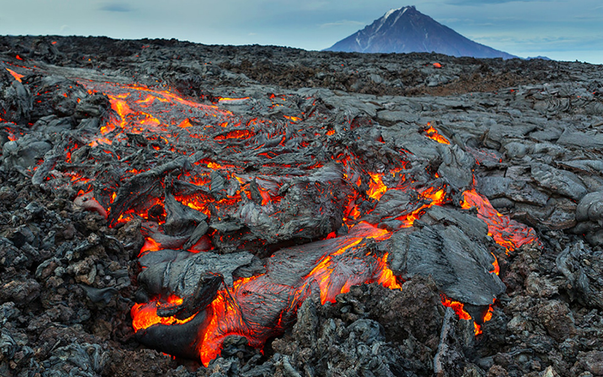 Lava from a Distant Volcano