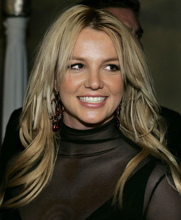 Britney Spears Smiling Face