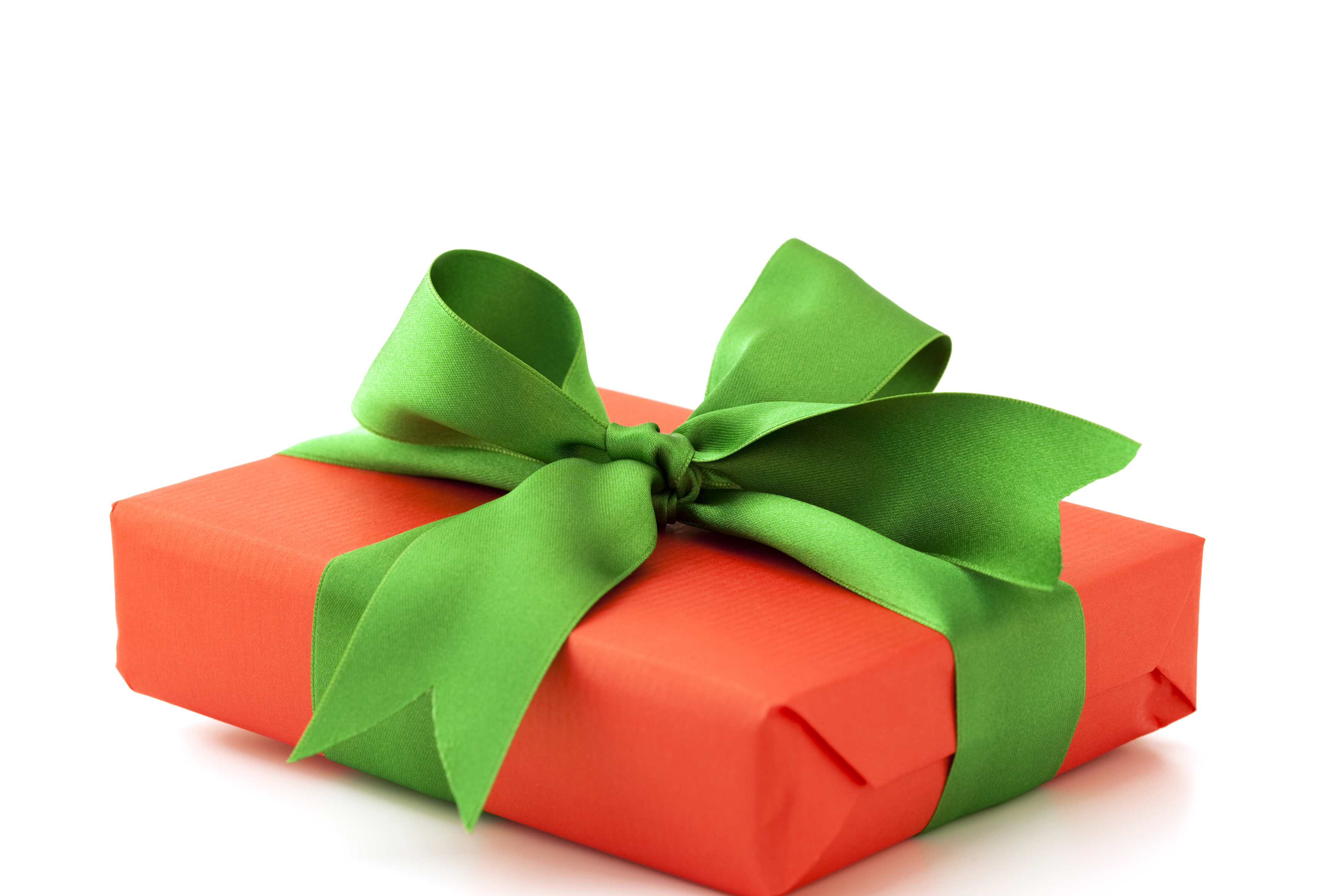 Red Gift Box with Green Band #4240484, 3543x2362 | All For Desktop