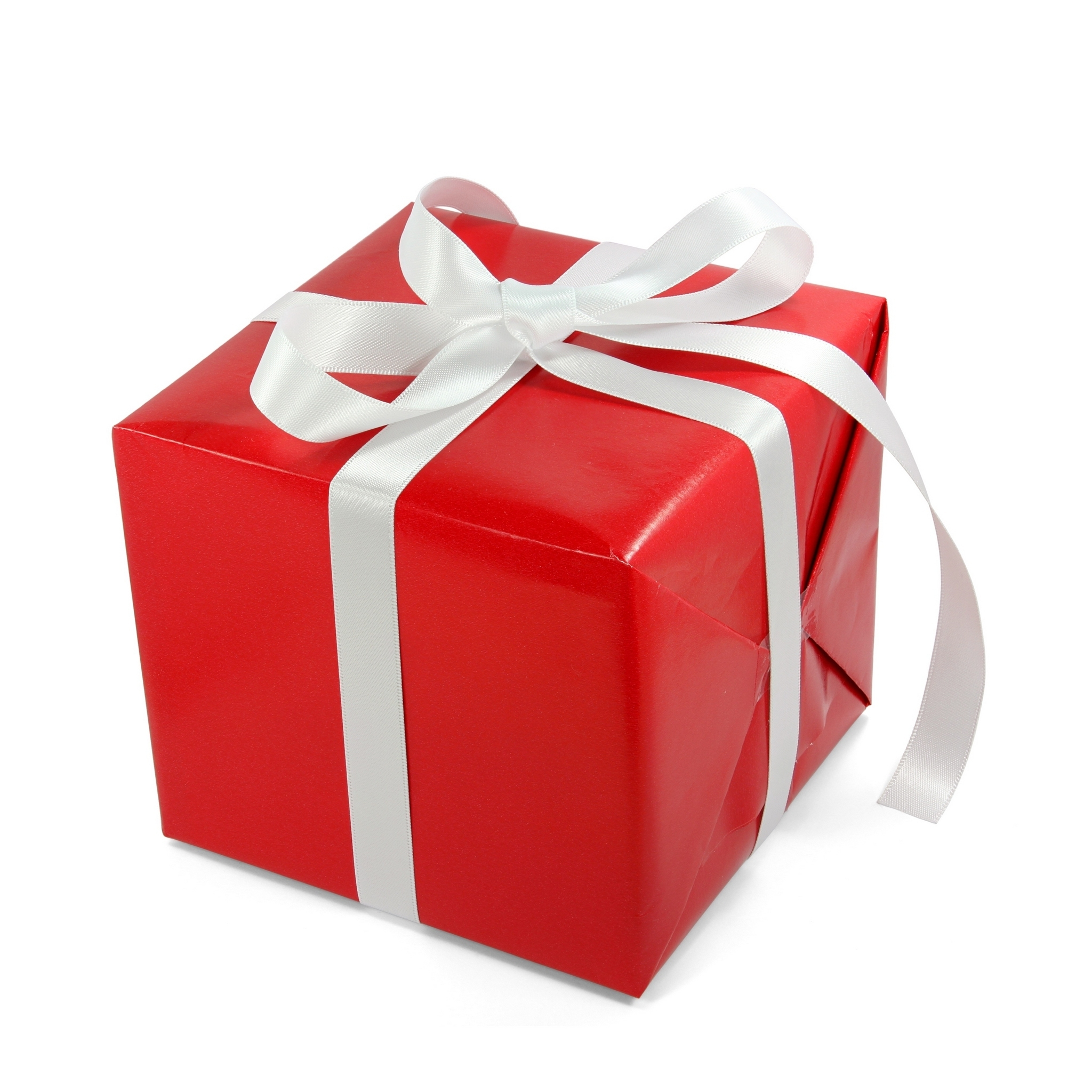 Red Gift Box with White Band #4240487, 2048x2048 | All For ...