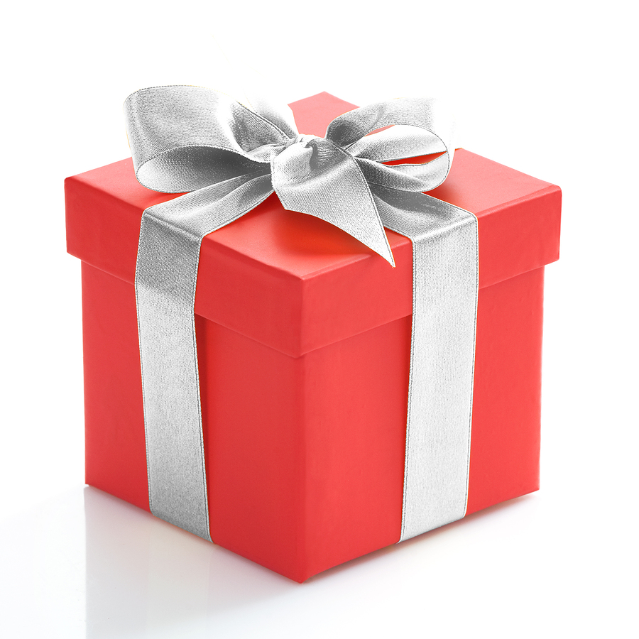 Red Gift Box with Silver Band #4240495, 900x900 | All For ...