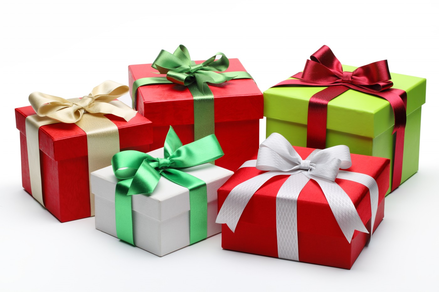 Five Colorful Gift Boxes 122.87 Kb