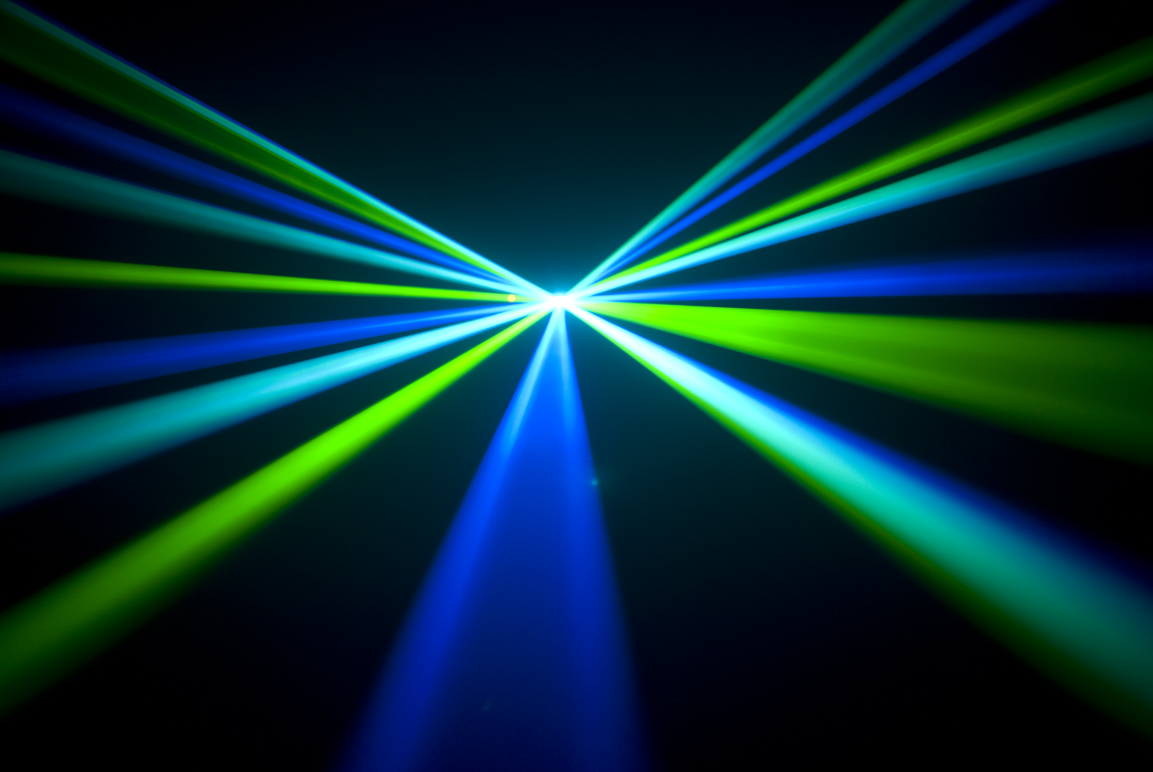 Green and Blue Laser