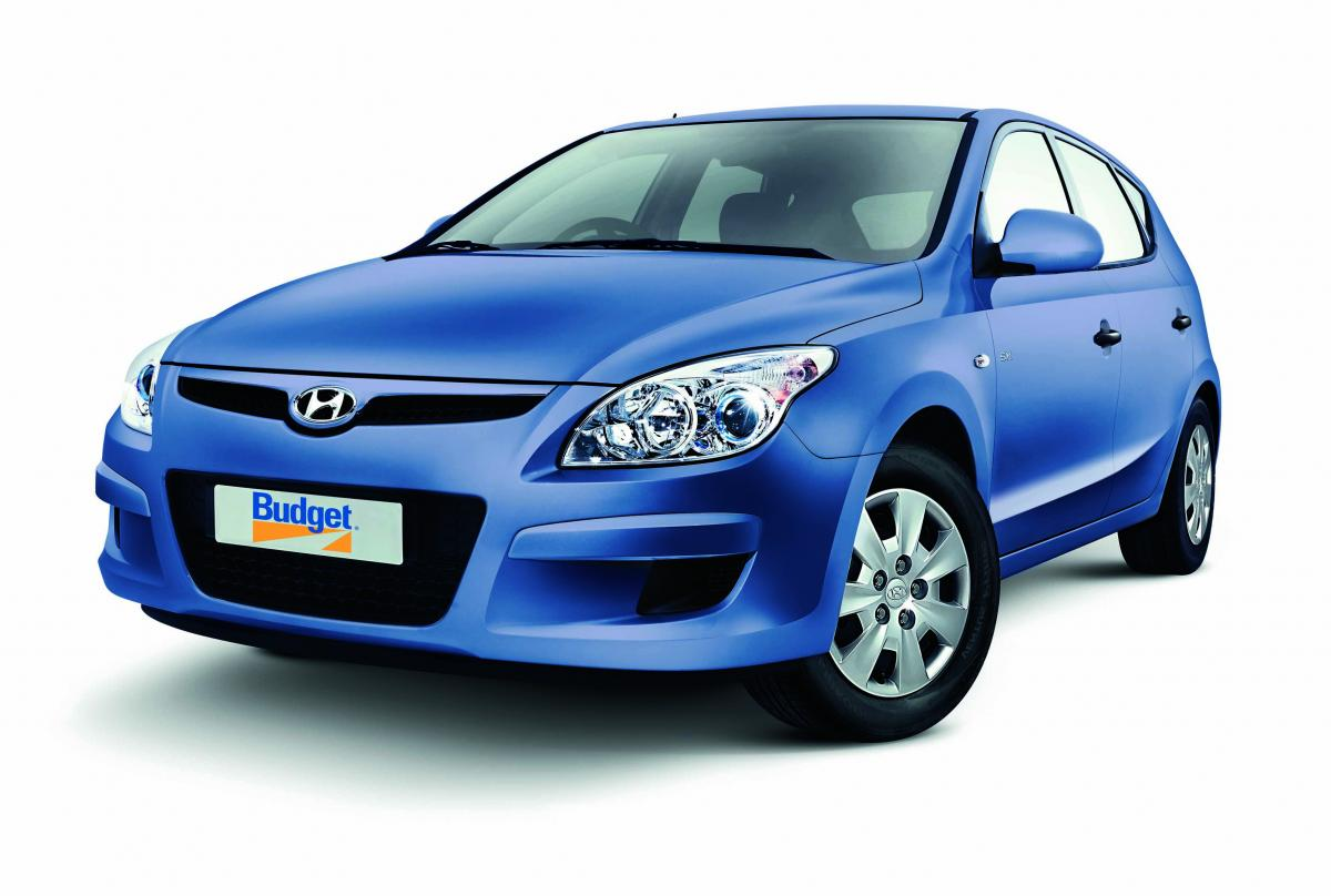 Blue Hyundai Car