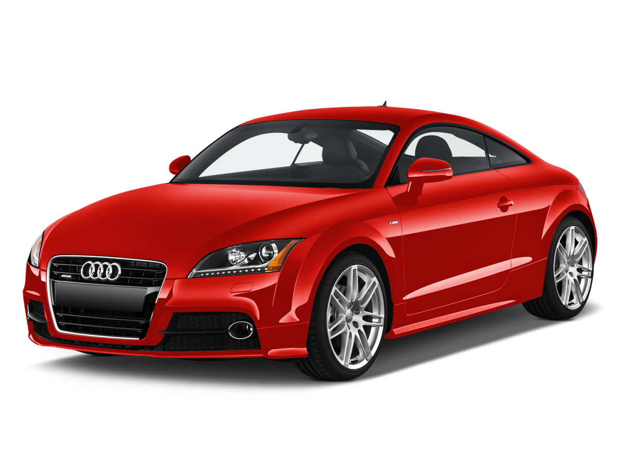 Red Audi Car Front Look