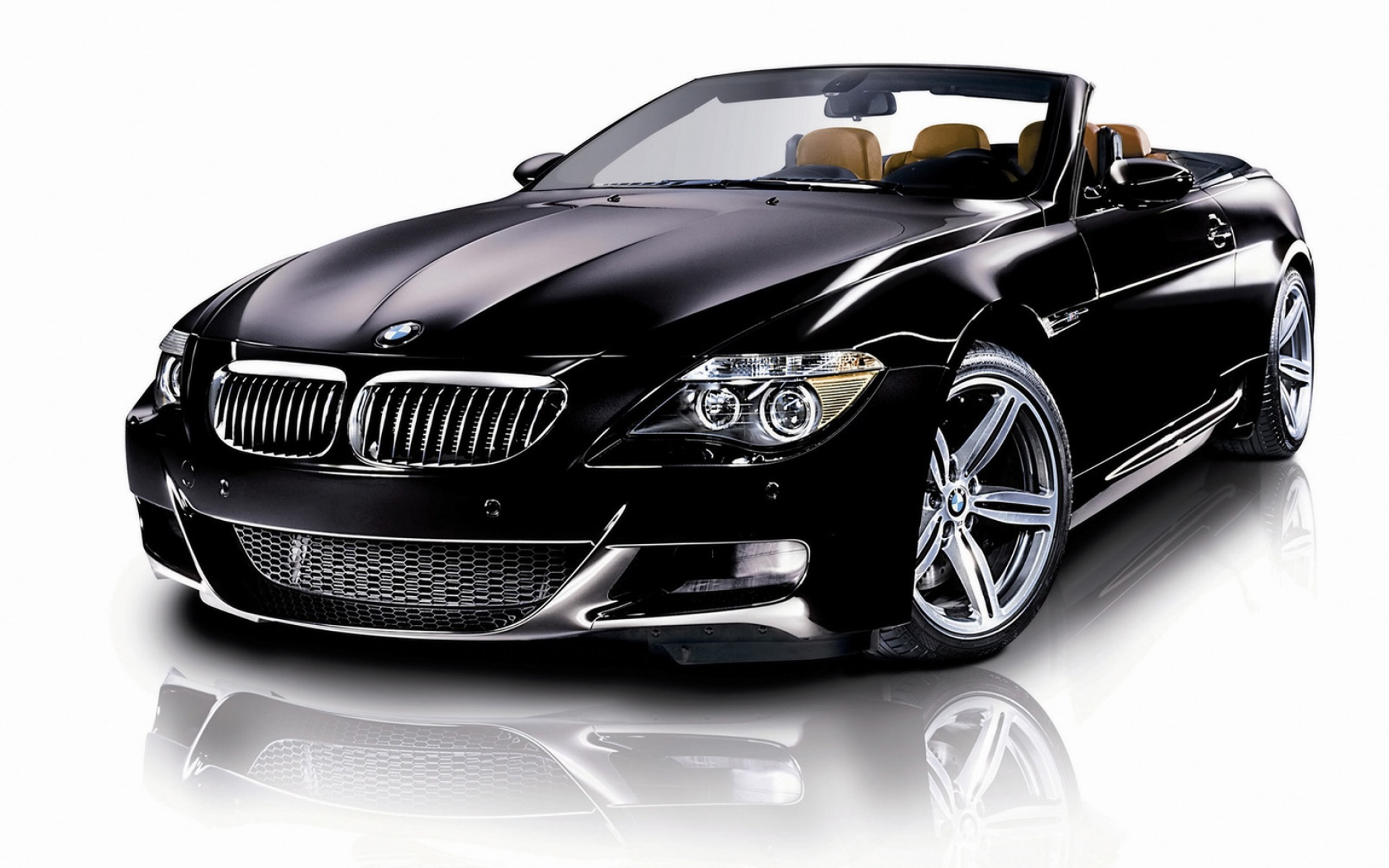 Black BMW Convertible Car