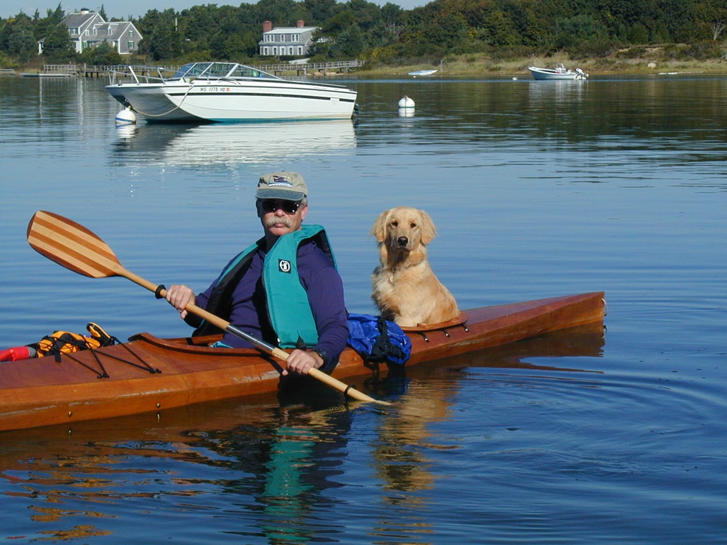 Sailing in Kayak with a Dog