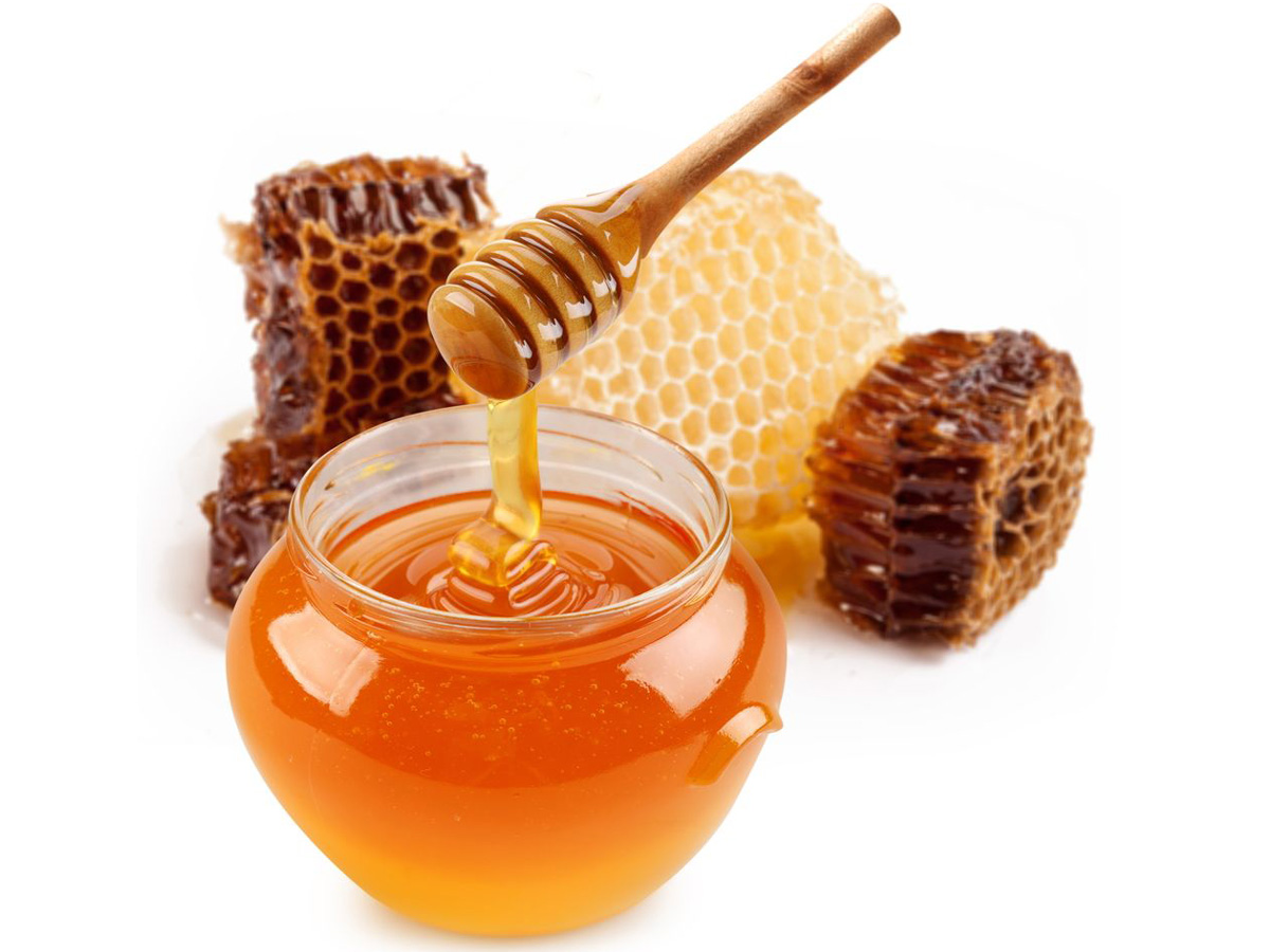 Honey in a Jar from Honeycomb