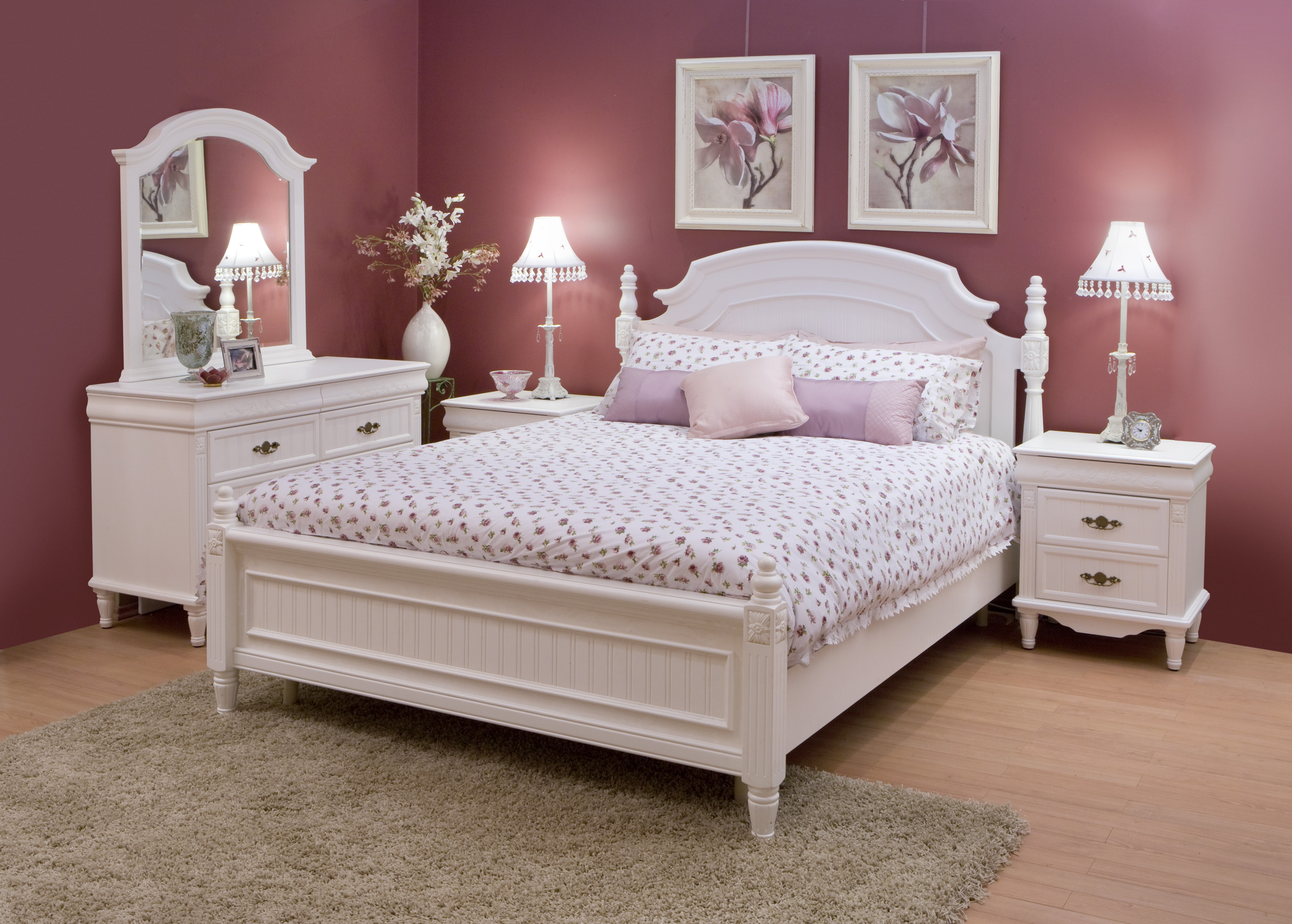 Pink Bedroom for a Girl