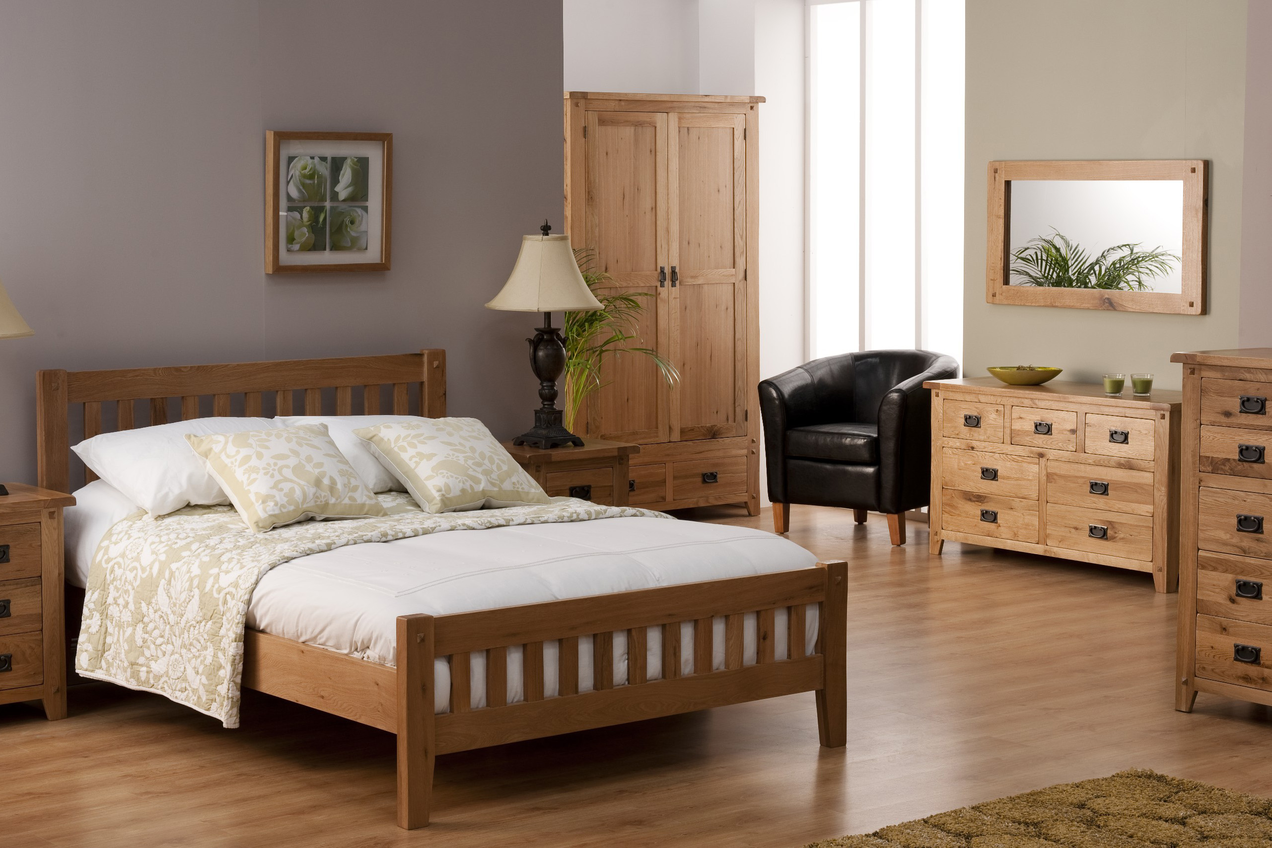 Bedroom in Country Wooden Style