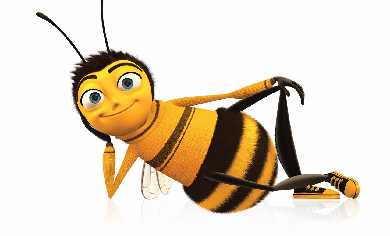 Funny Bee from a Cartoon