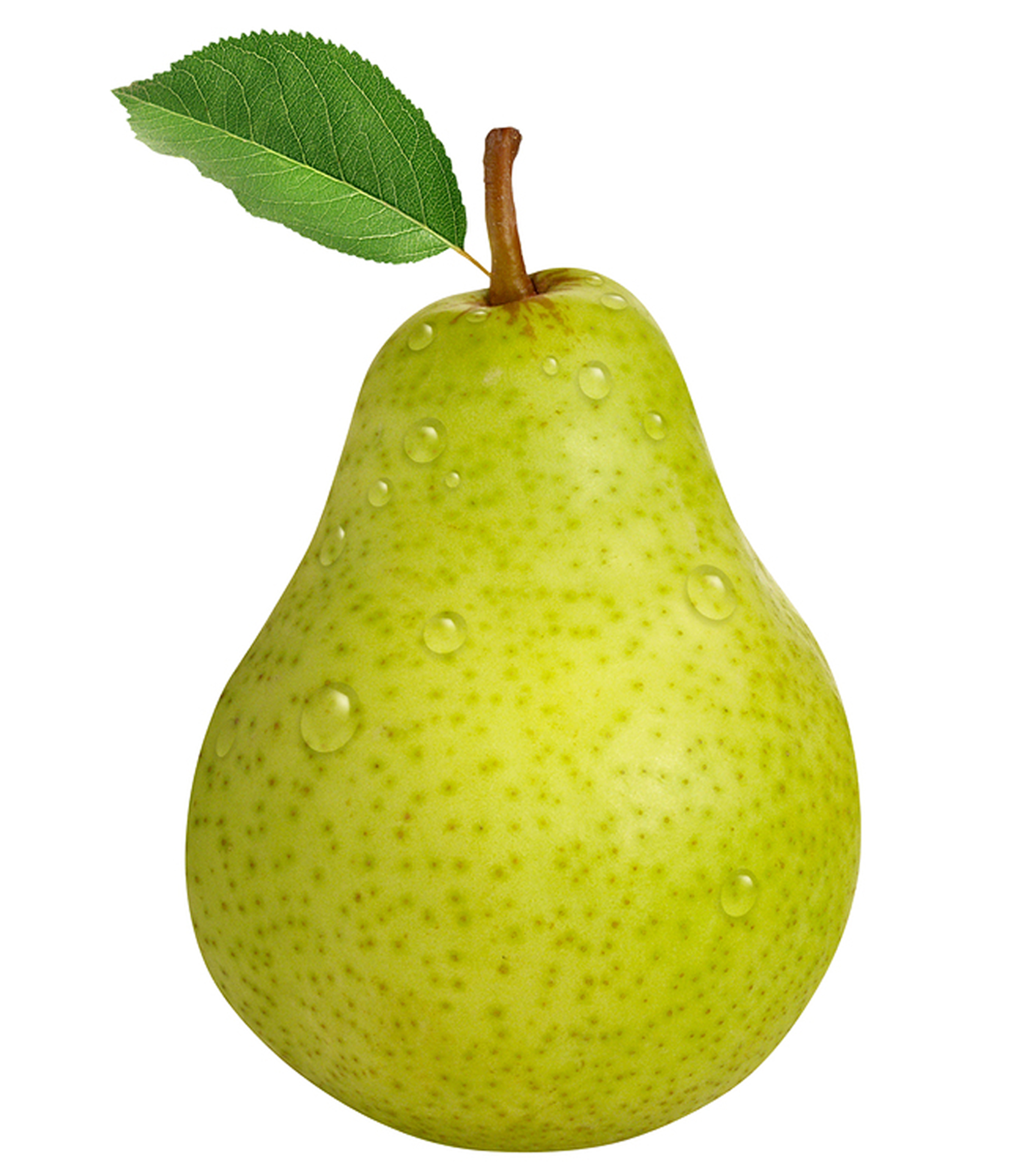 Green Pear with Water Drops 345.57 Kb