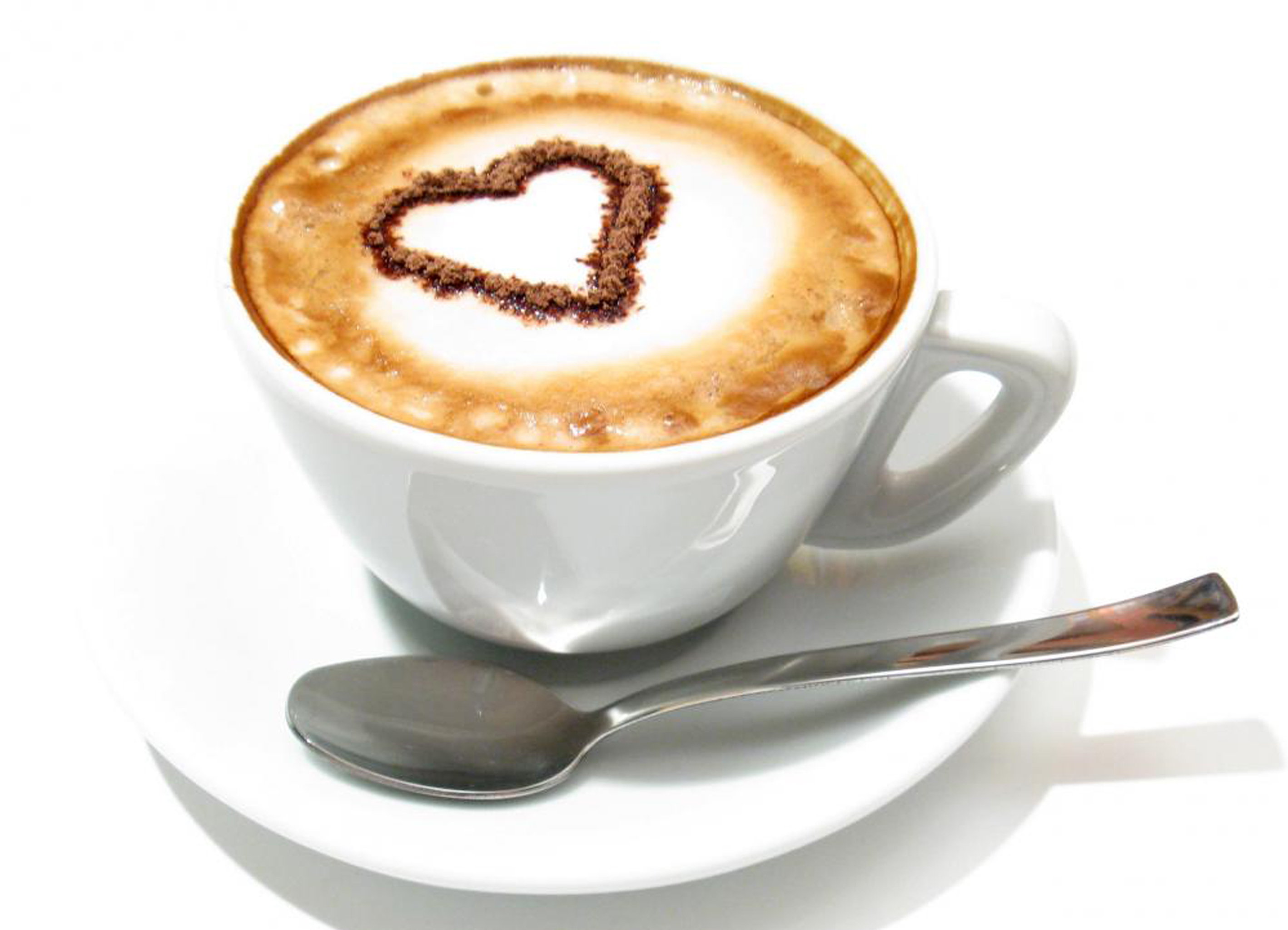 Chocolate Heart on Coffee 183.49 Kb