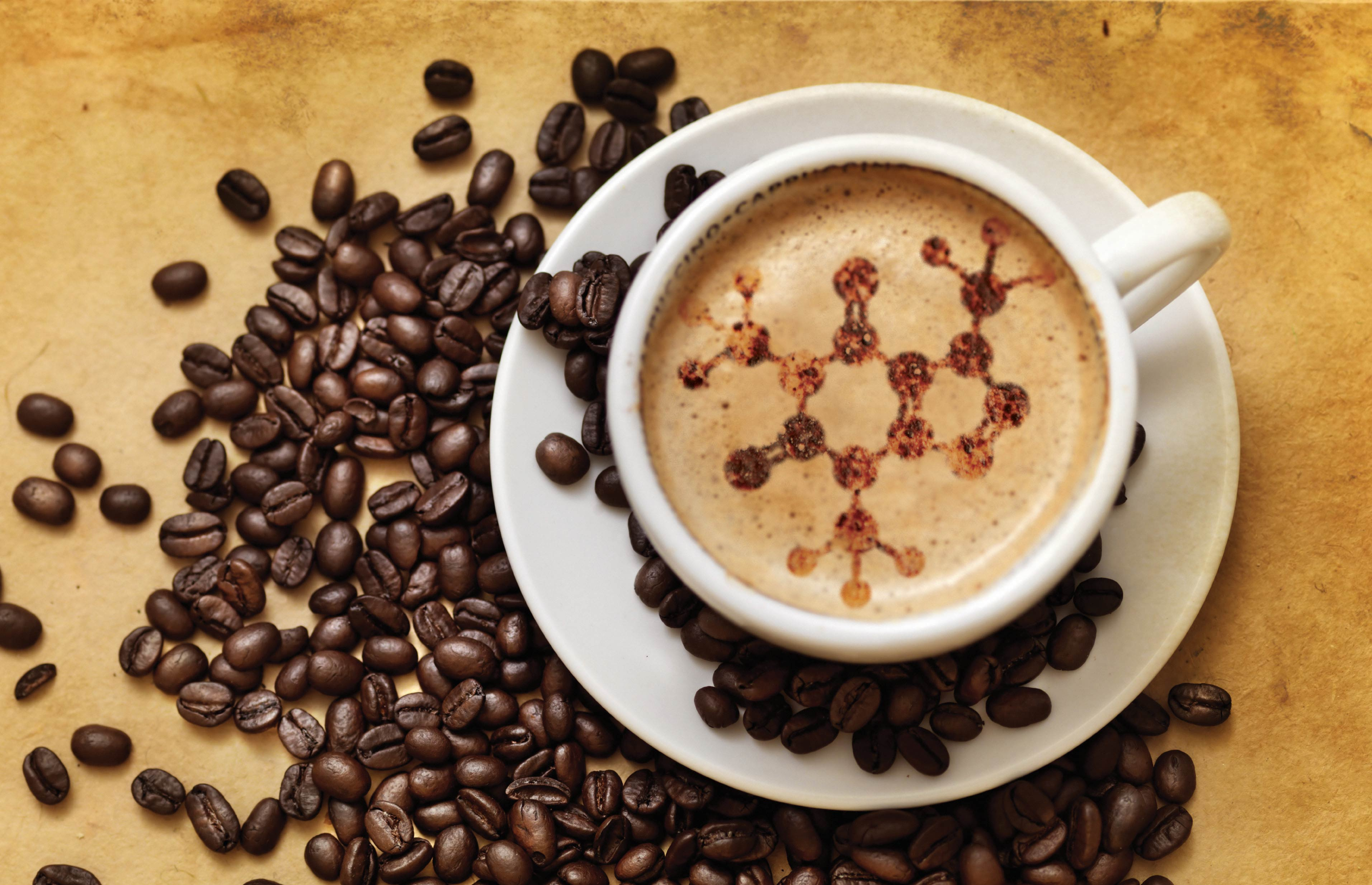 Coffee Molecule on a Foam