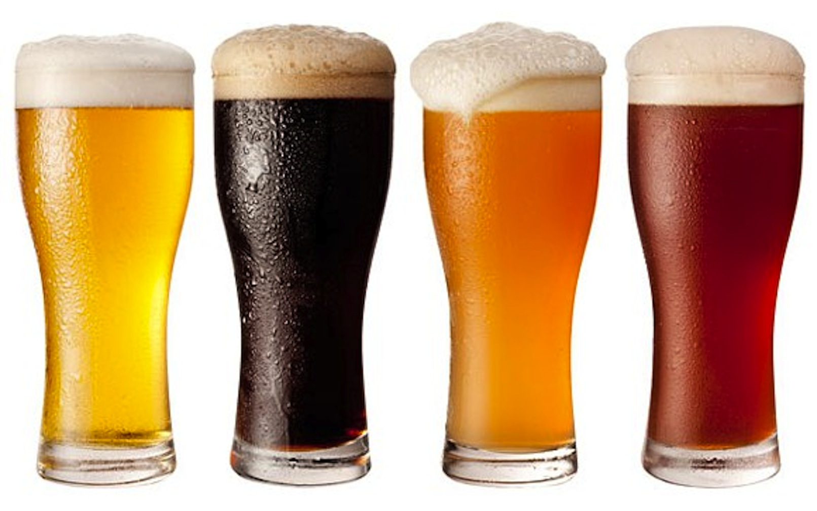 Types of Beer in Glasses