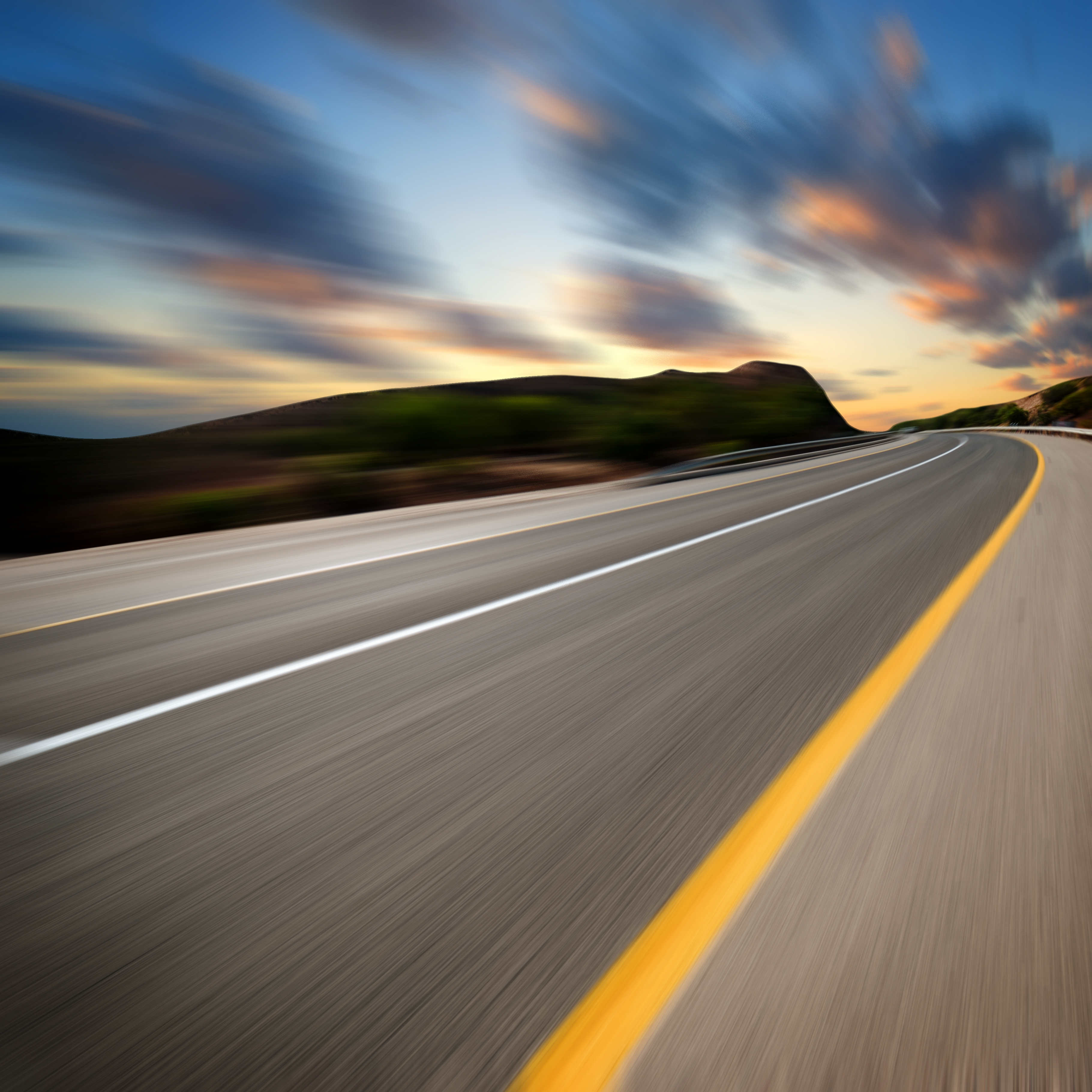 Blurry Road at High Speed