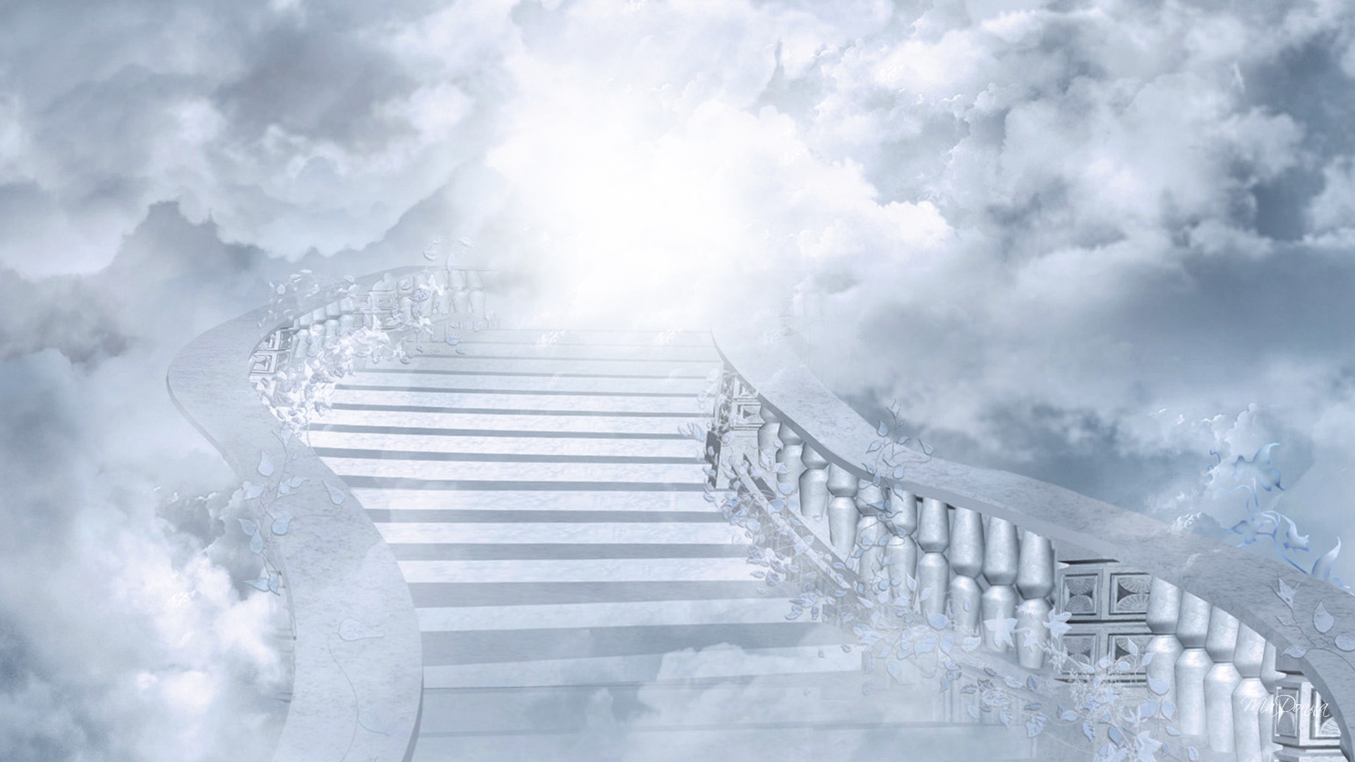 White Broad Stairs to Heaven