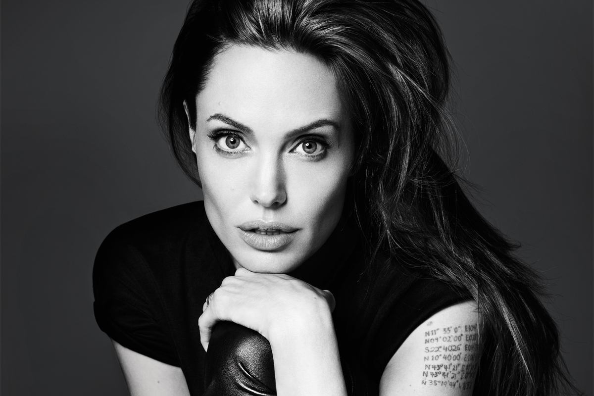 Black and White Angelina Jolie Photoshoot