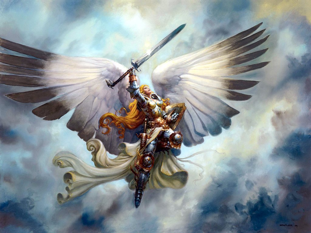 Angel Warrior with a Sword