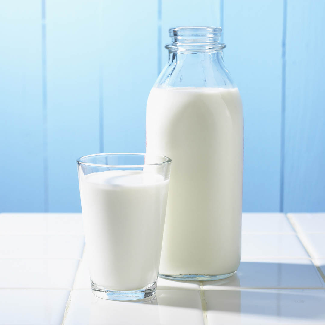 Jar and Glass of Milk