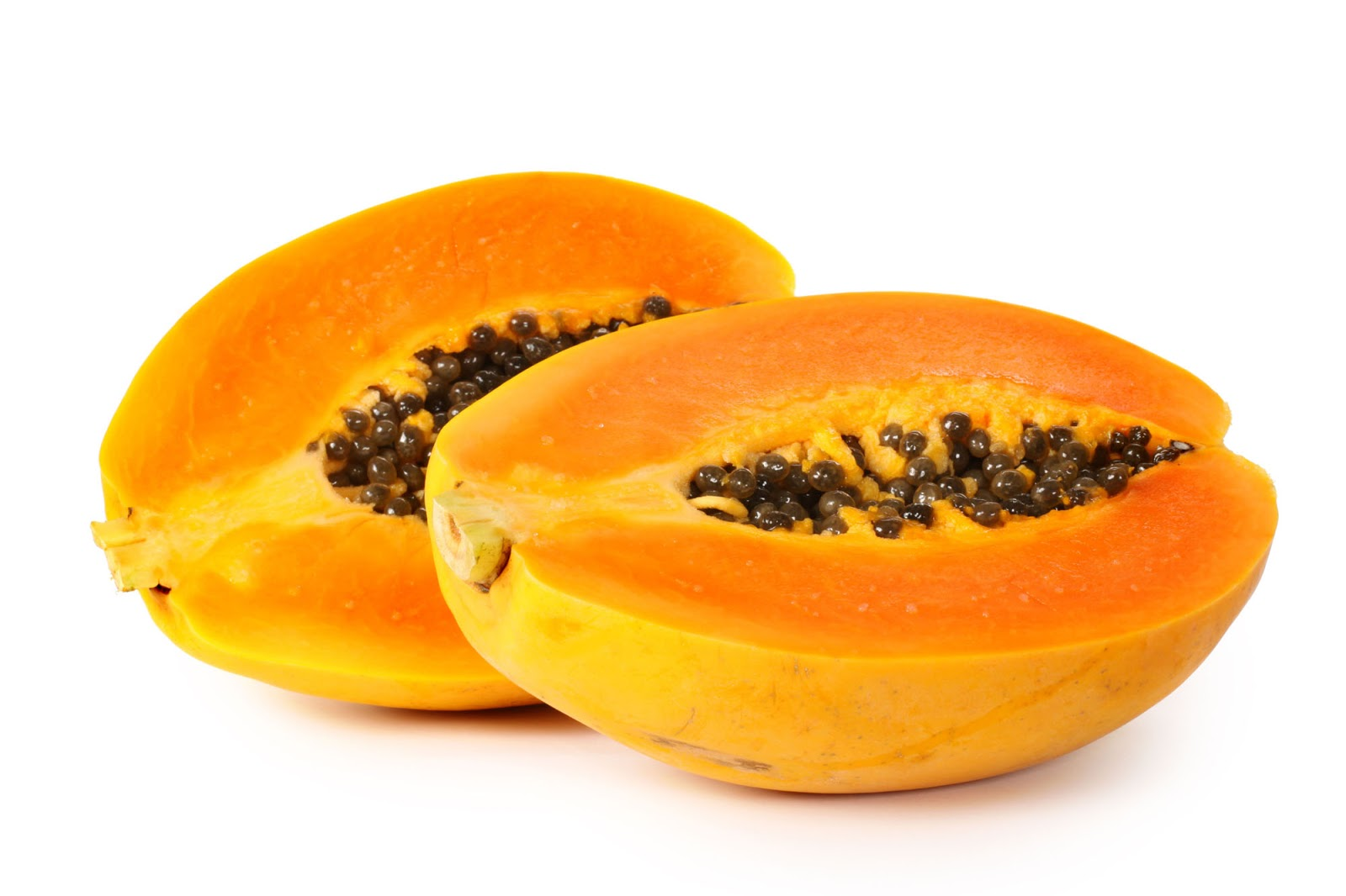 Ripe Papaya Cross Section