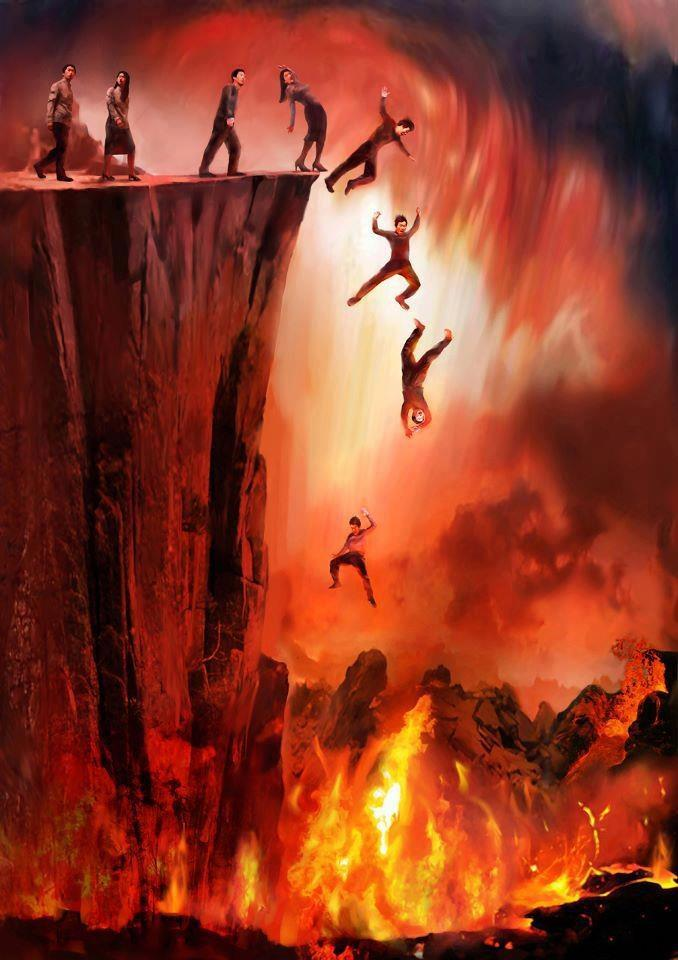 People Jump in Hell Fire