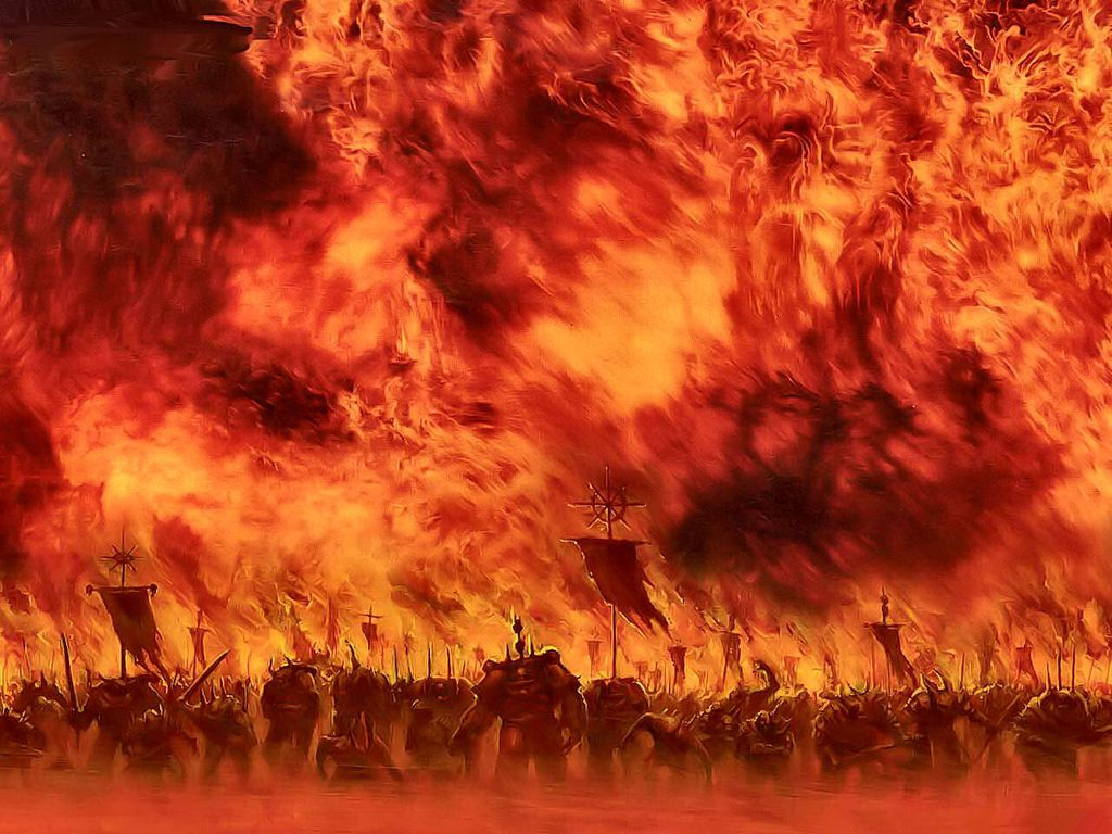 Warriors Walking through Hell Fire  78.52 Kb
