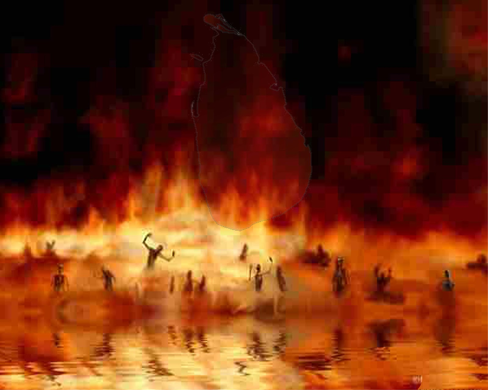People Burning in Hell Fire 78.52 Kb