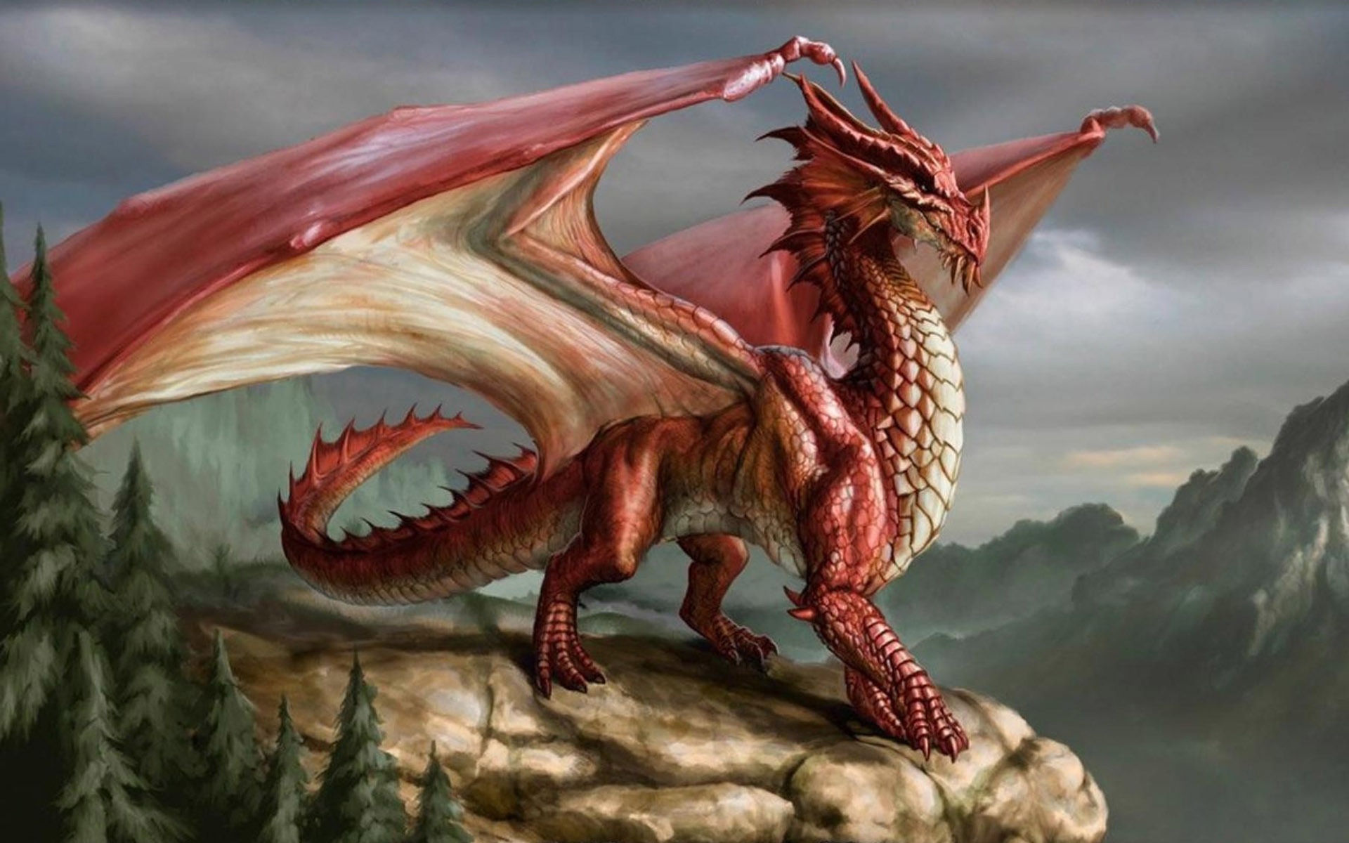 Red Dragon from a Tale