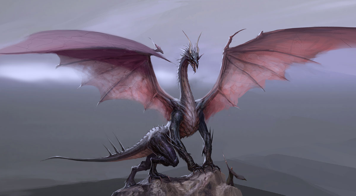 Dragon with Spread Wings