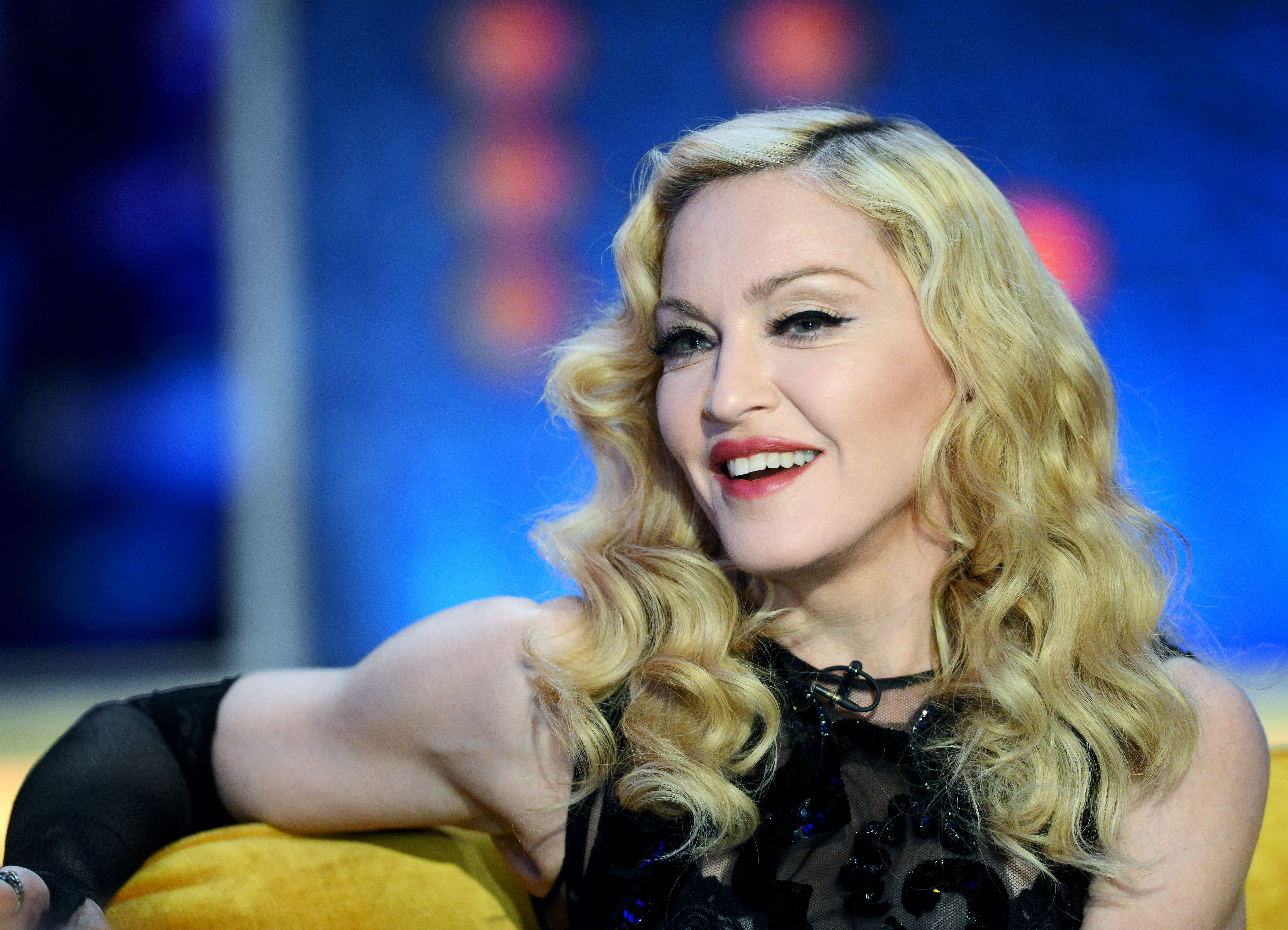 Singer Madonna at TV Show