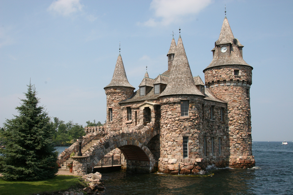 Stone Castle in the Water