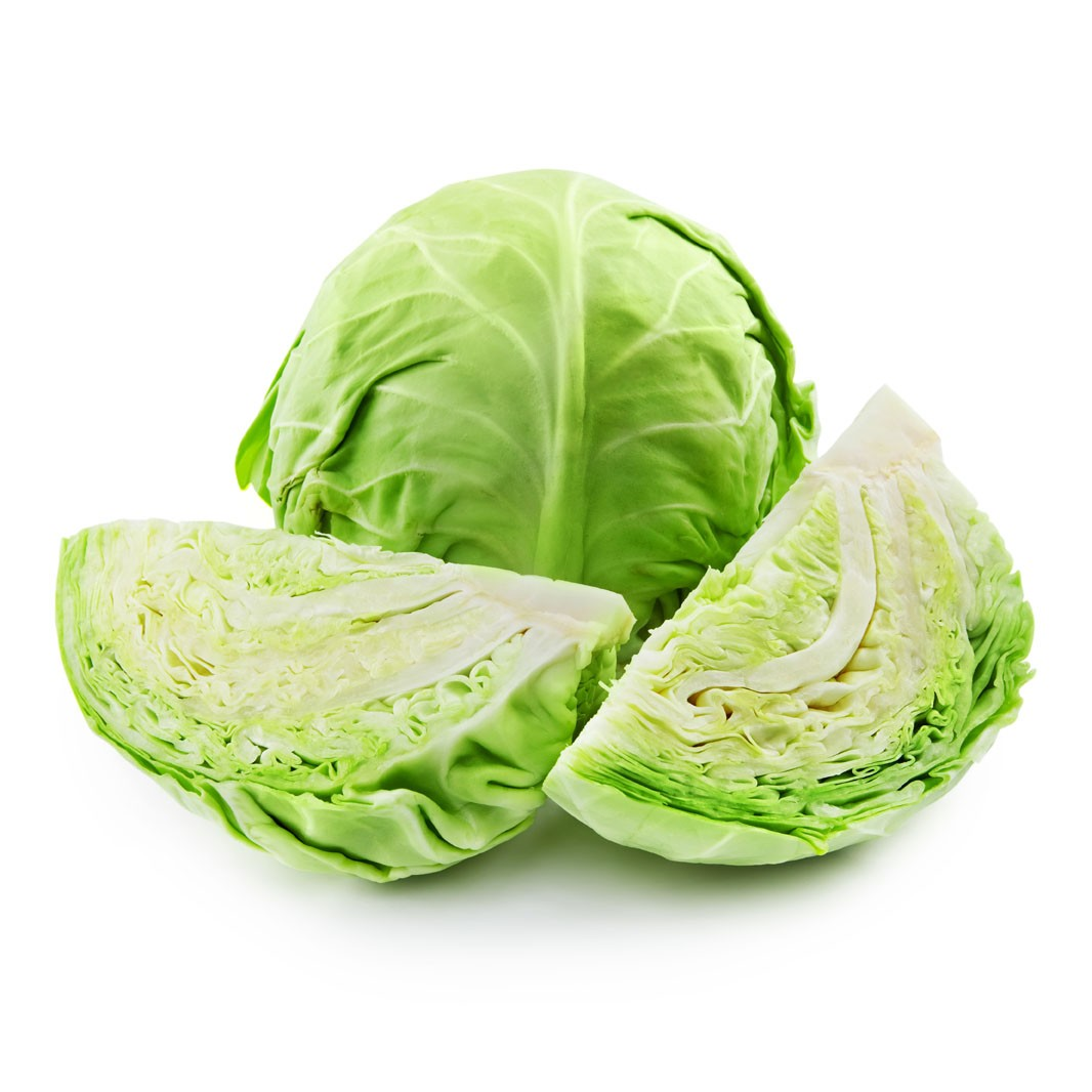 Uncooked Cabbage Ready for Consumption