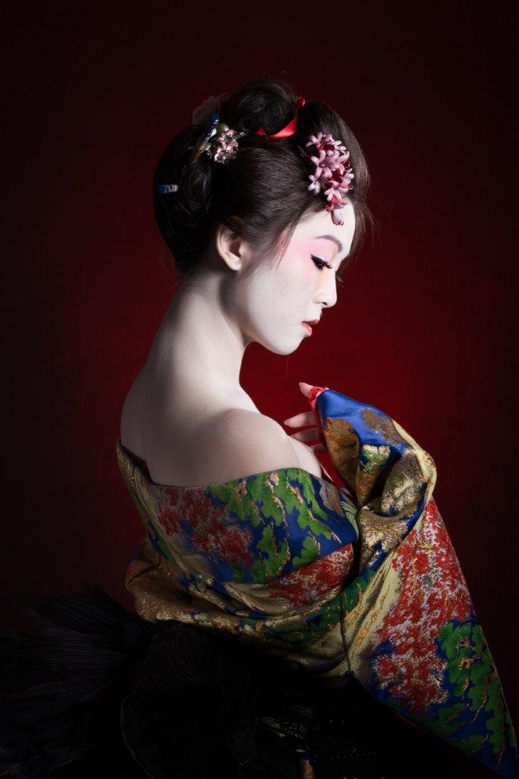 Geisha in Traditional Clothes 707.25 Kb