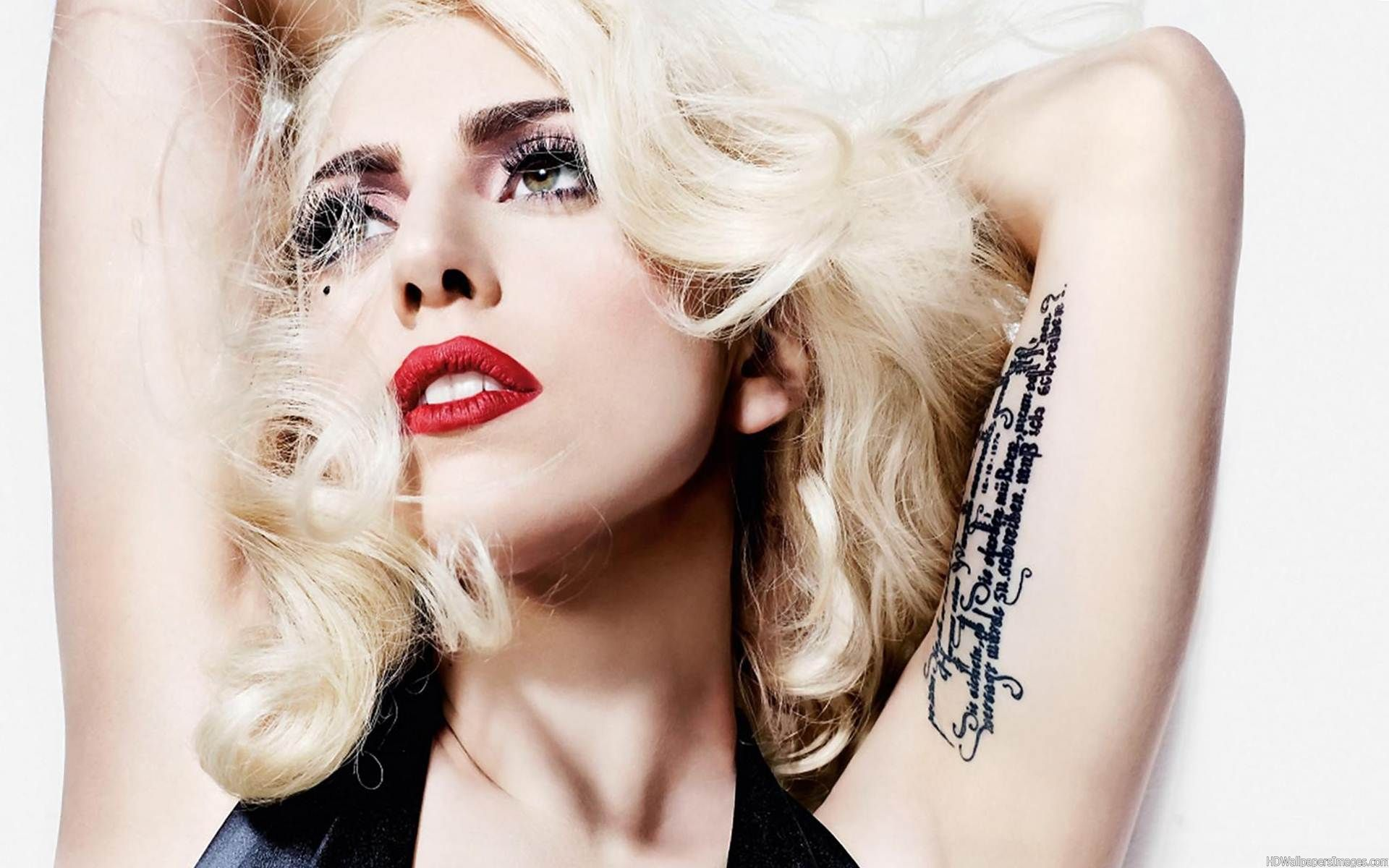 Lady Gaga Tattoo on the Arm