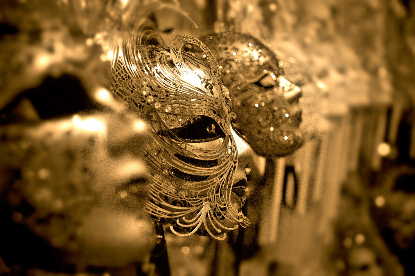 Golden Masquerade Masks